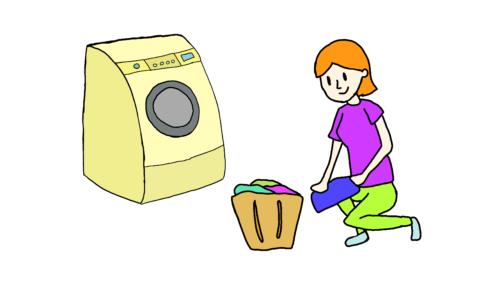 イラスト【洗濯します】