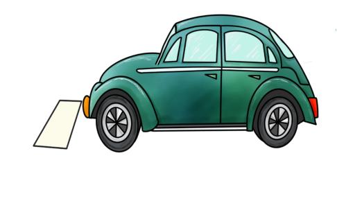 29課イラスト【車がとまる】