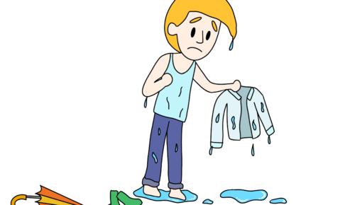 44課イラスト【濡れる】