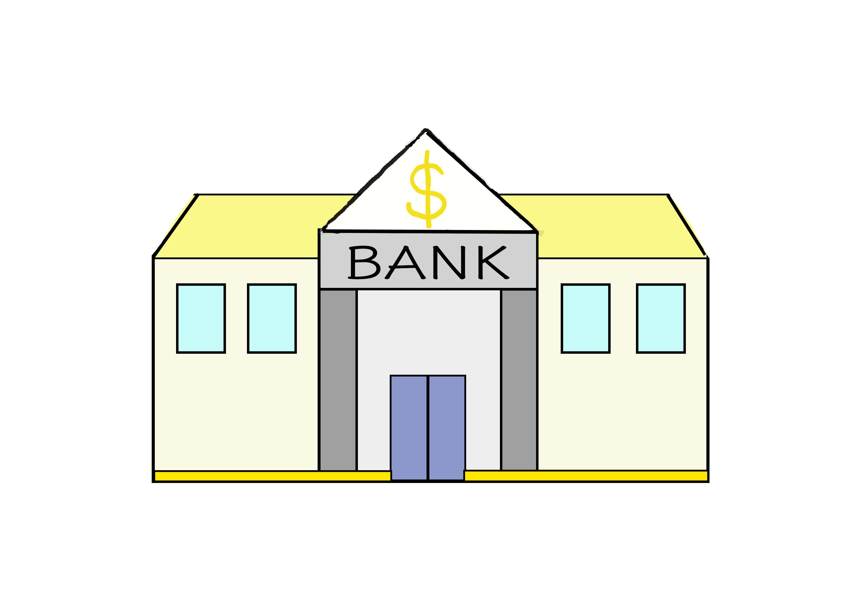 商用フリーイラスト【銀行】