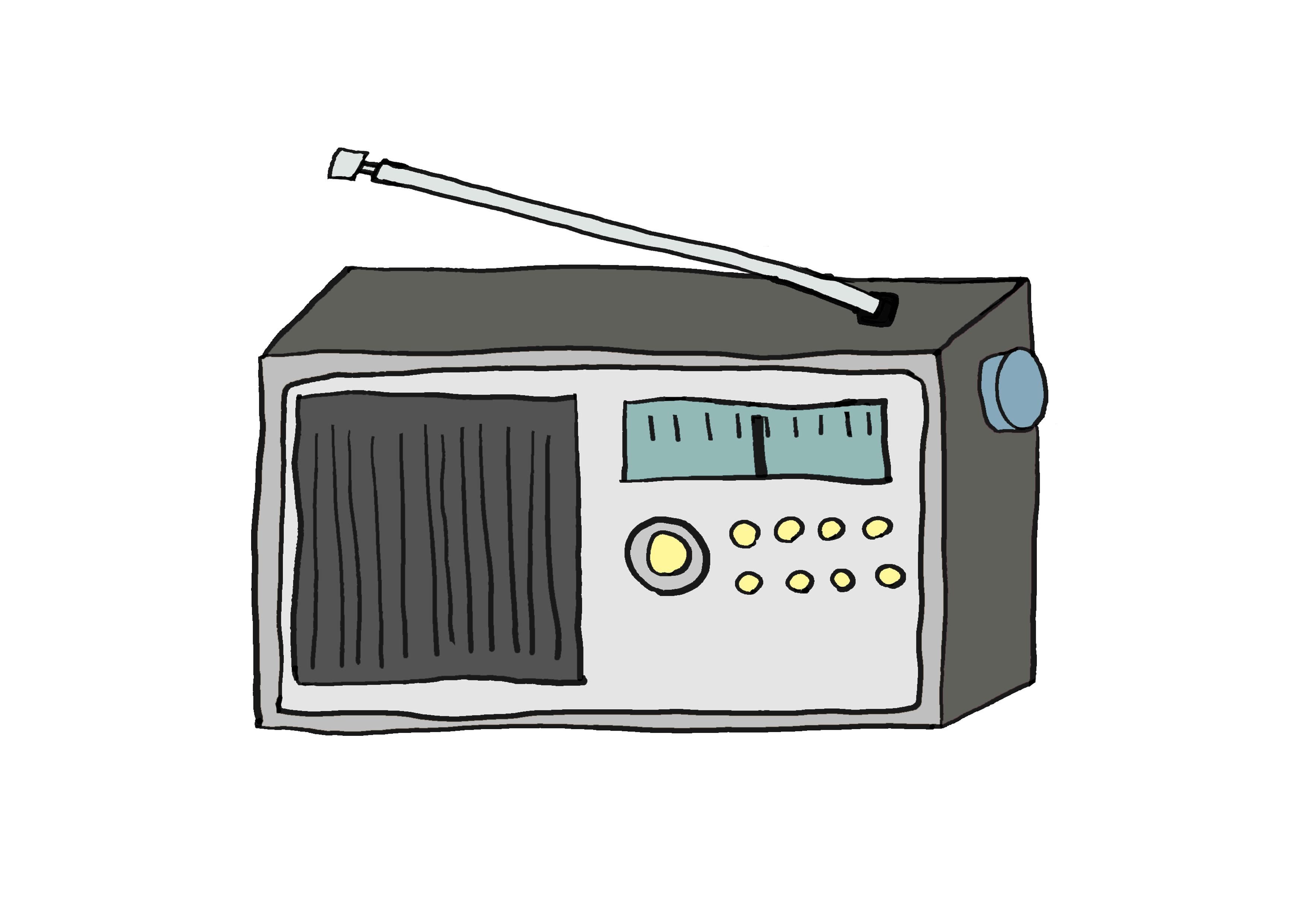 商用フリーイラスト【ラジオ】