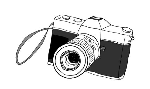 商用フリーイラスト【カメラ】
