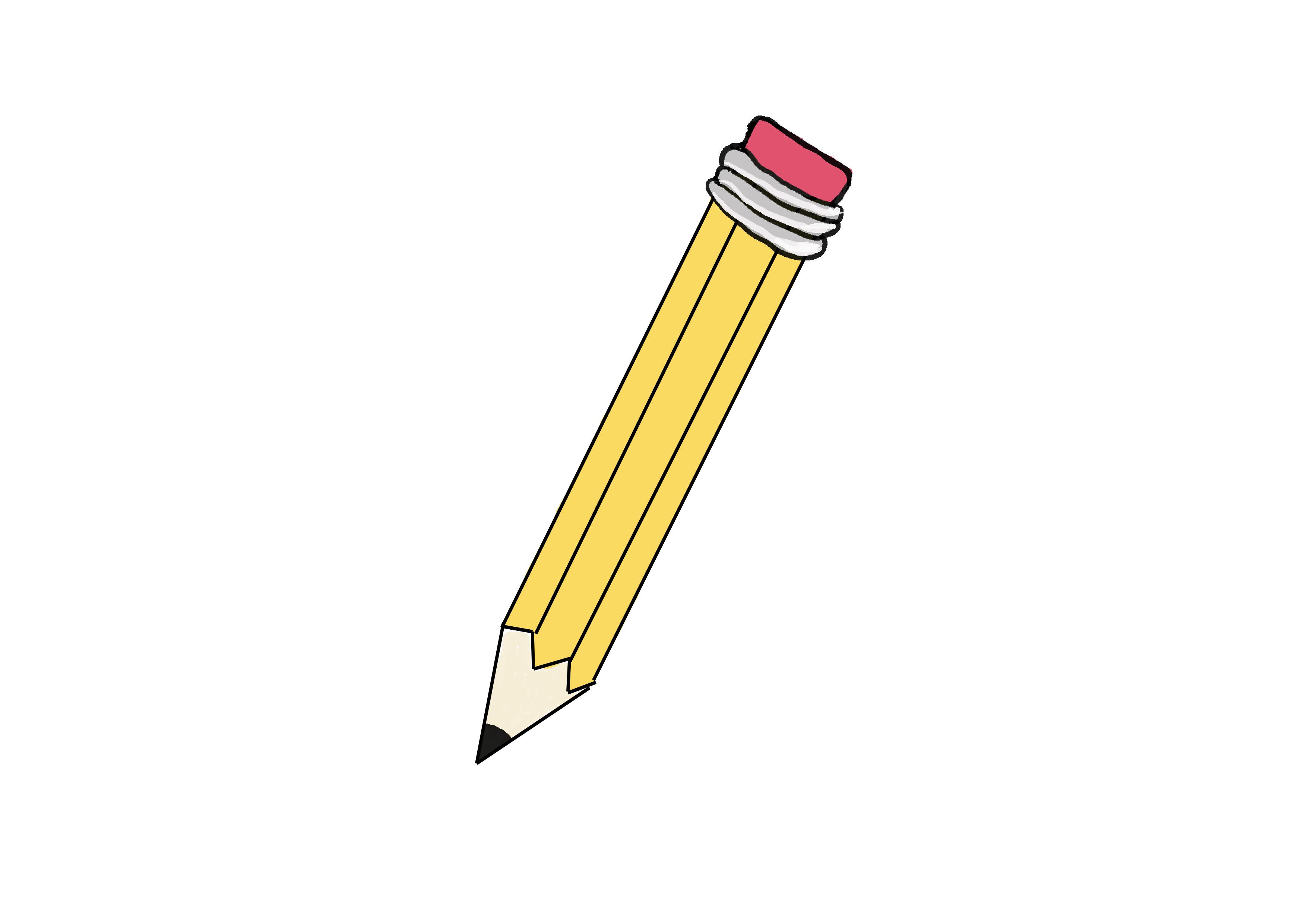 商用フリーイラスト【えんぴつ、鉛筆】
