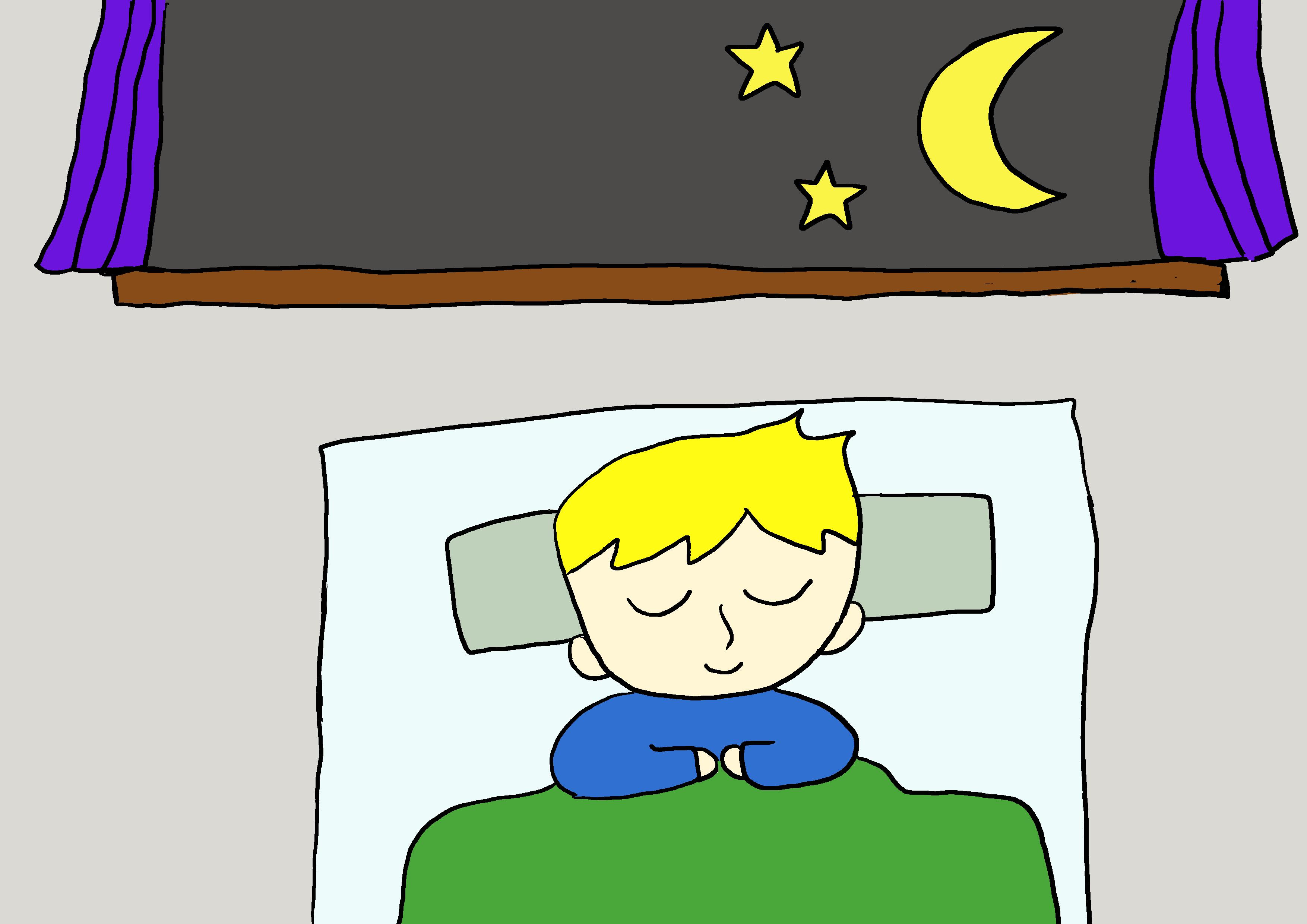 商用フリーイラスト【寝る】