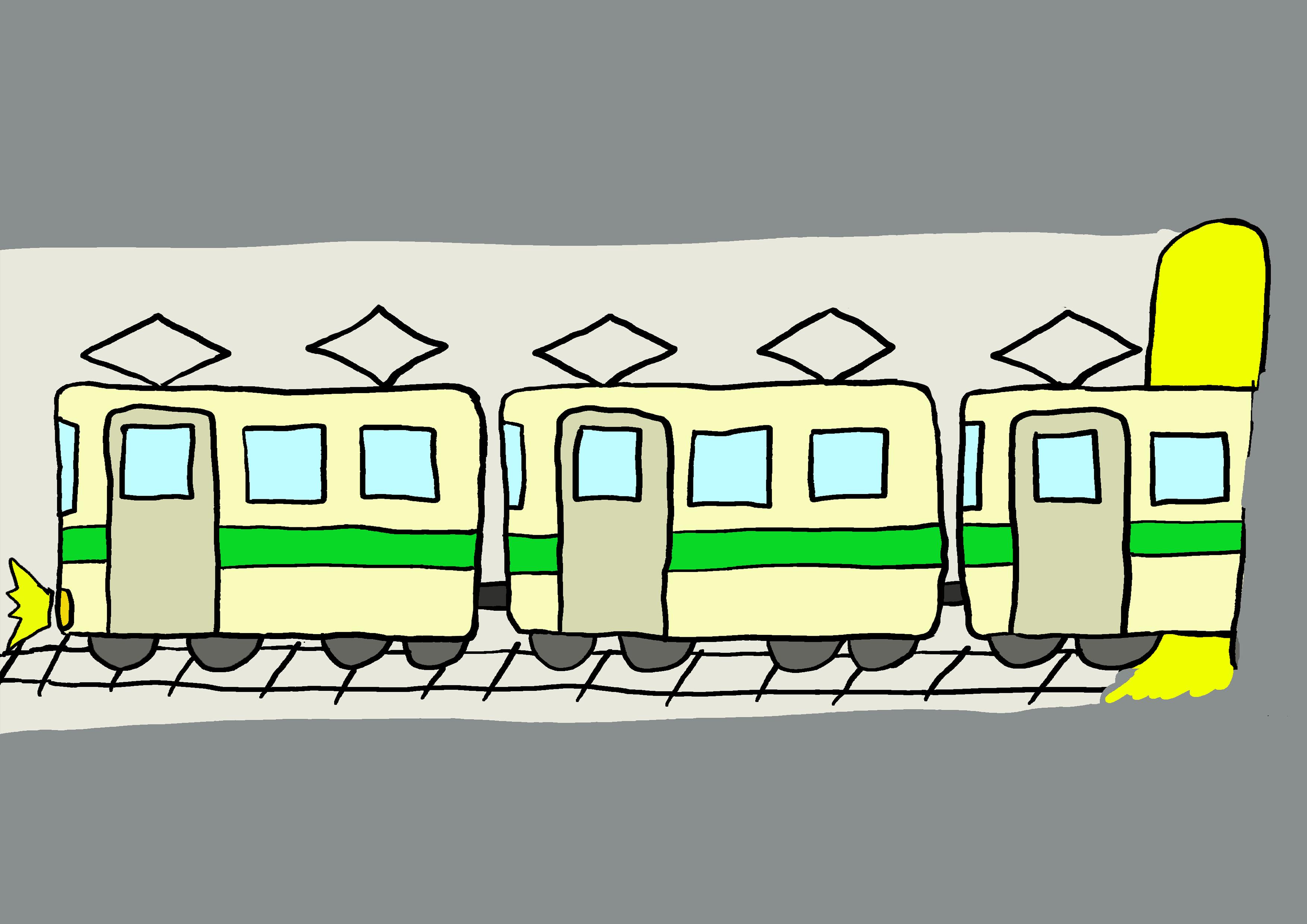 商用フリーイラスト【地下鉄】