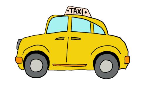 商用フリーイラスト【タクシー】