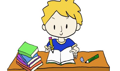 商用フリーイラスト【勉強する】