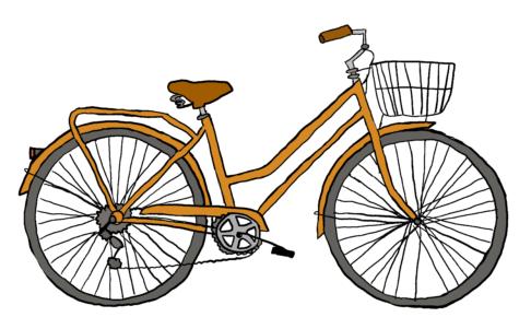 商用フリーイラスト【自転車】