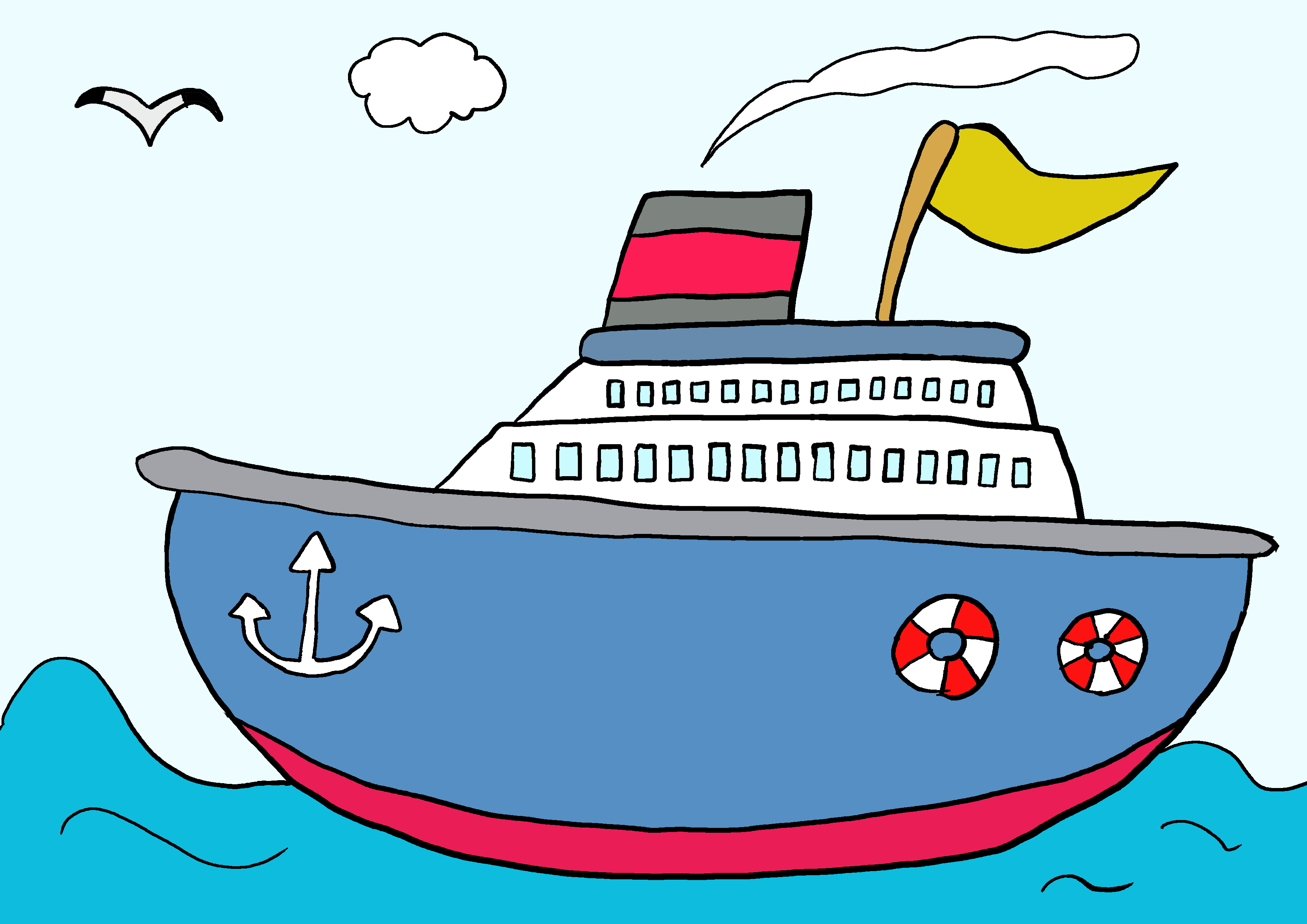 商用フリーイラスト【船】