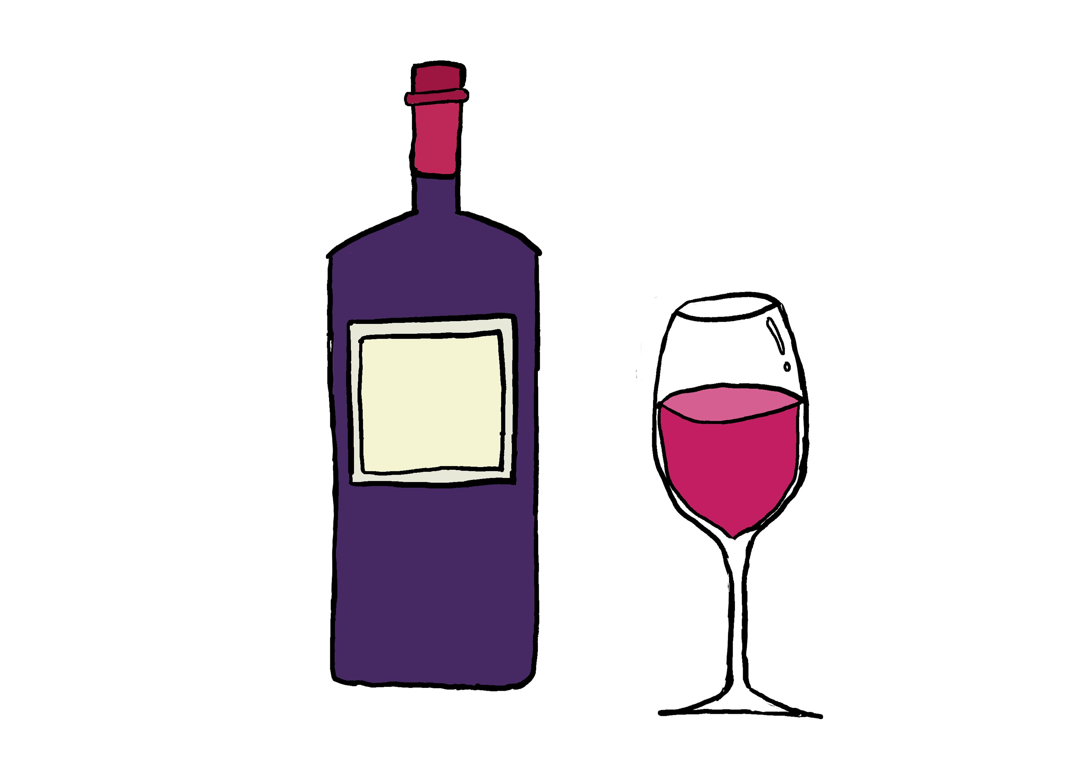 商用フリーイラスト【ワイン】