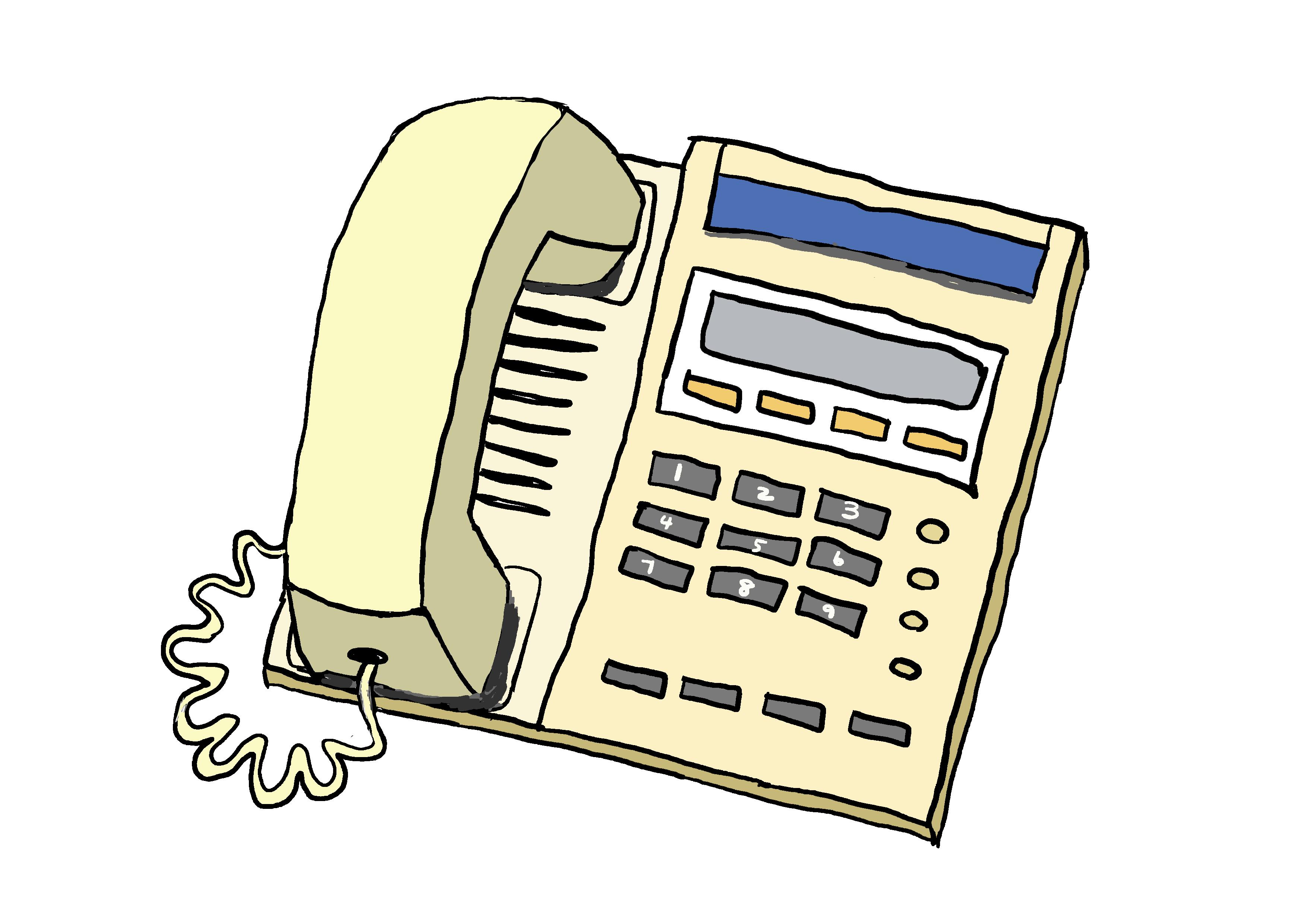 商用フリーイラスト【電話】