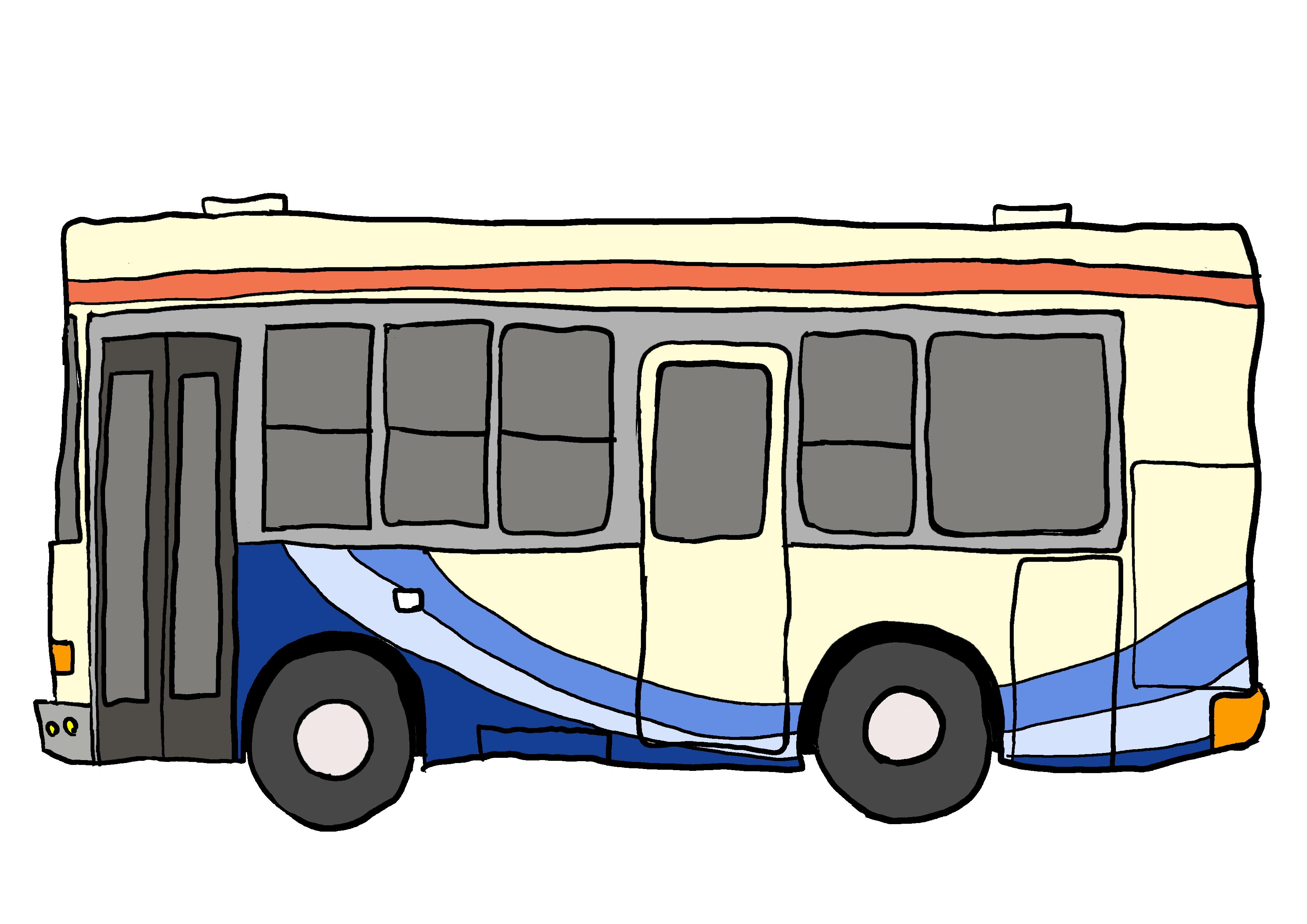 商用フリーイラスト【バス】