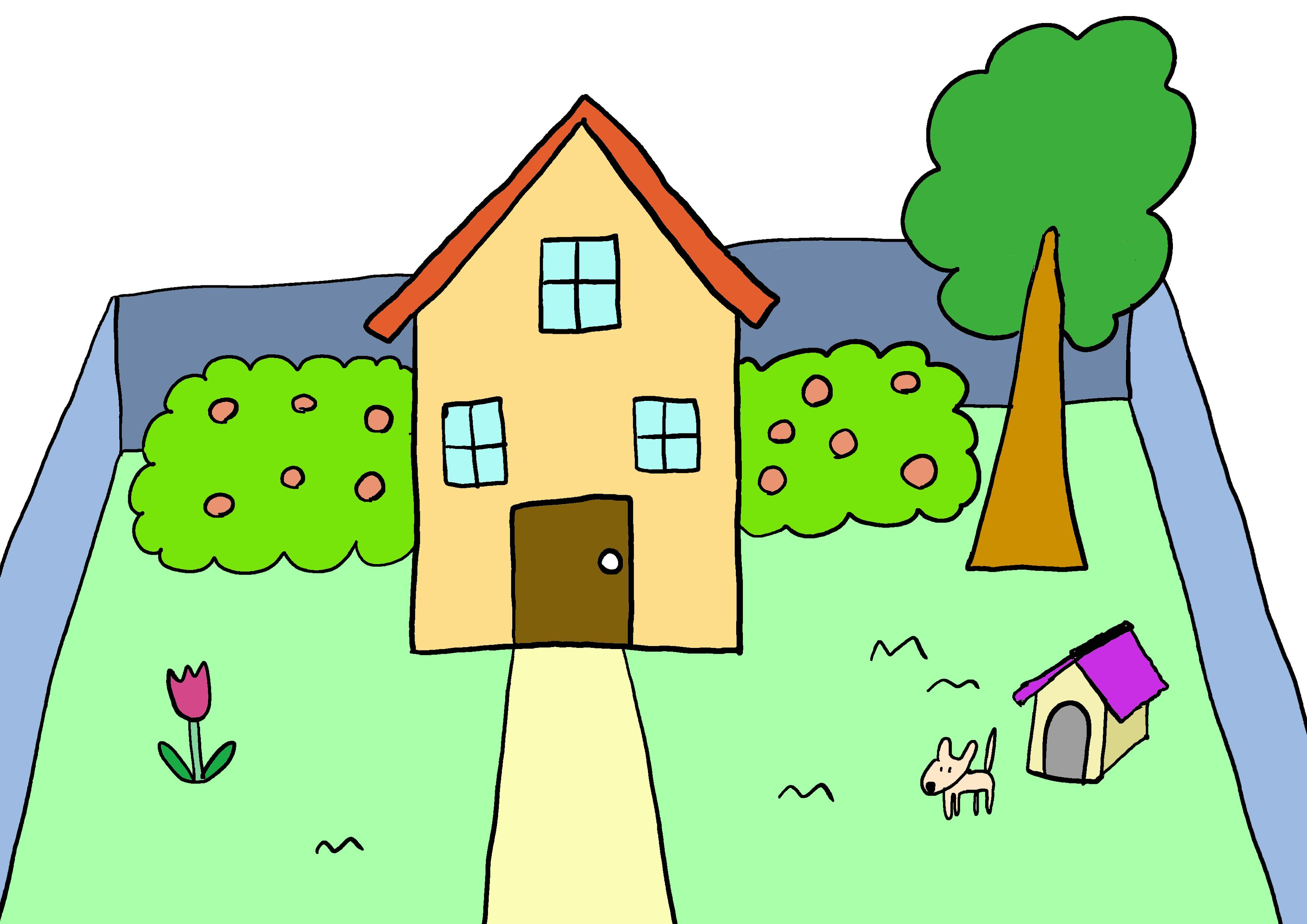商用フリーイラスト【家、庭】