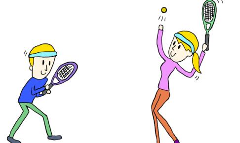 商用フリーイラスト【テニス】