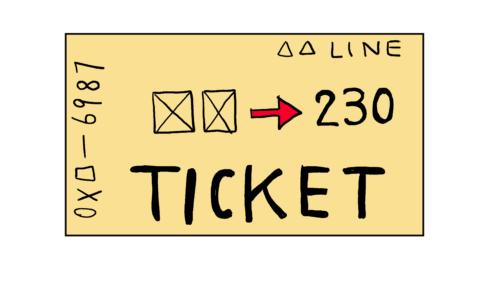 イラスト【電車の切符】