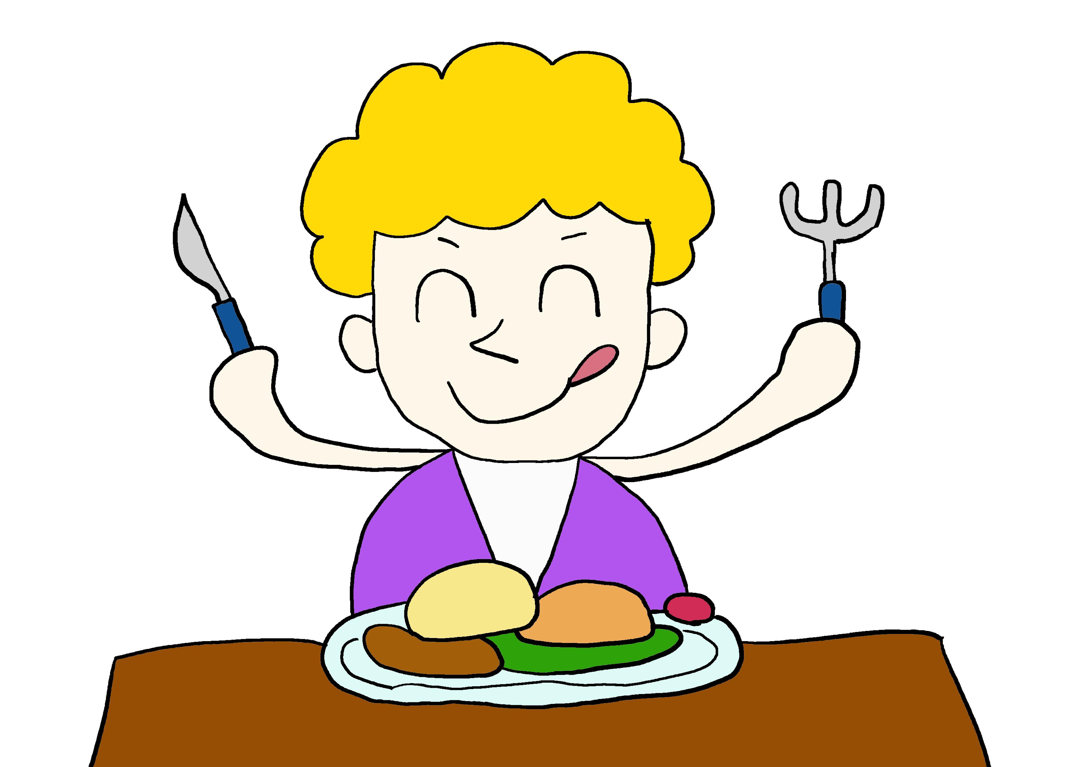 イラスト【食べる】