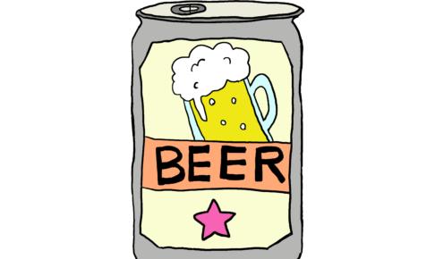 商用フリーイラスト【ビール、缶ビール】