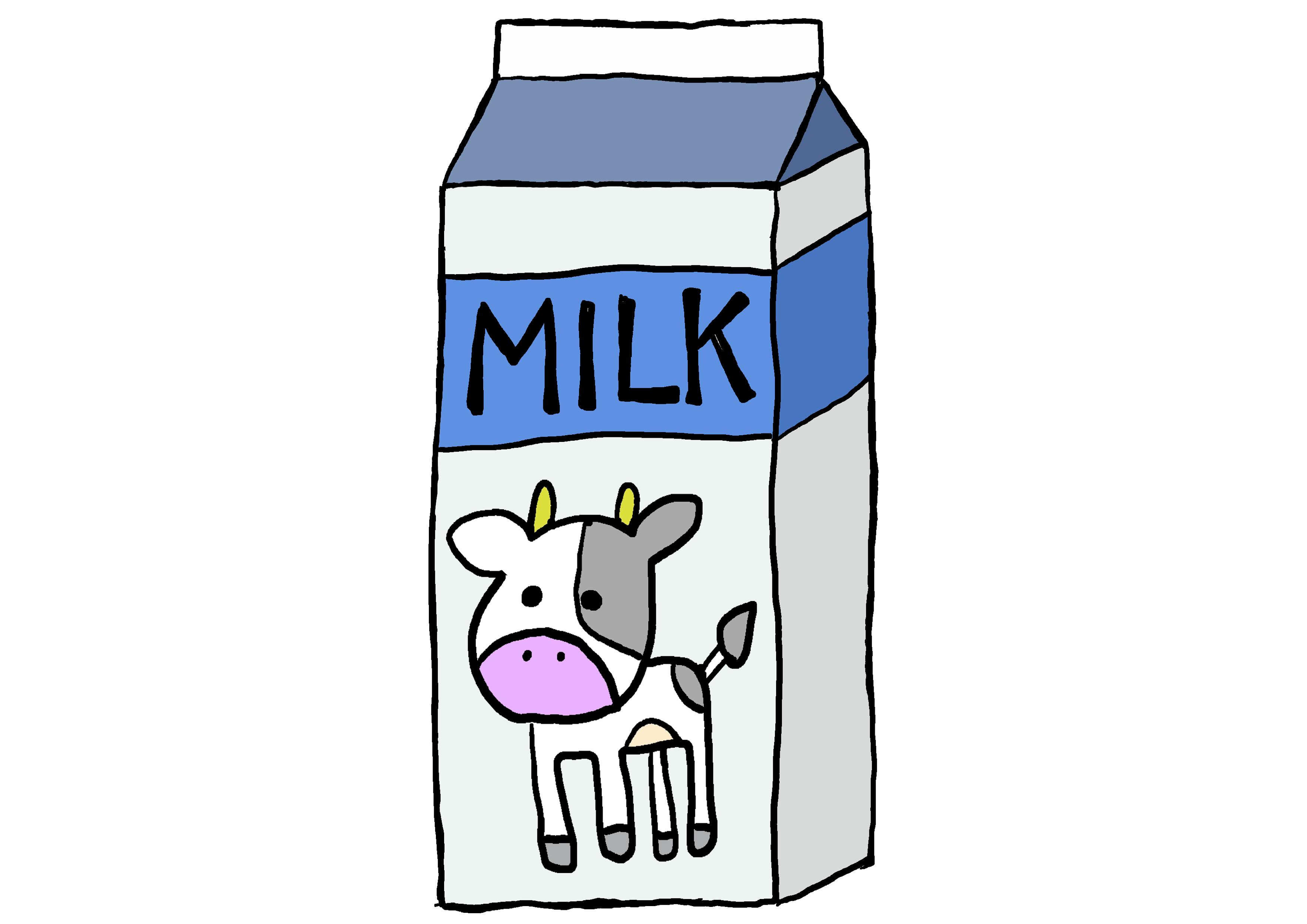 商用フリーイラスト【牛乳】