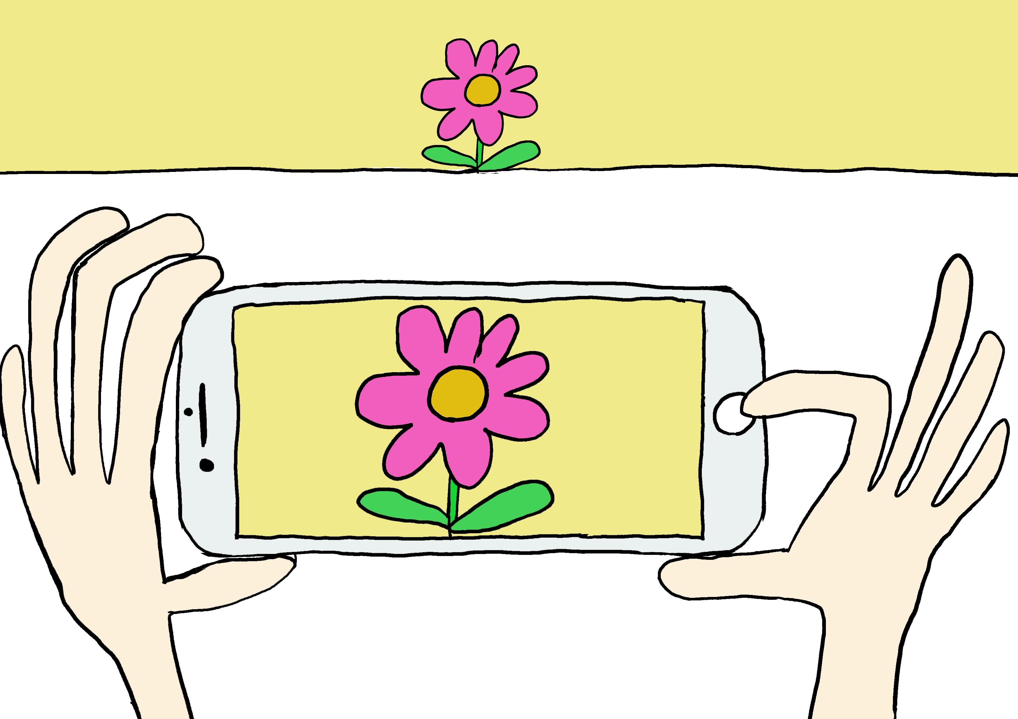 イラスト【撮る・写真撮影】