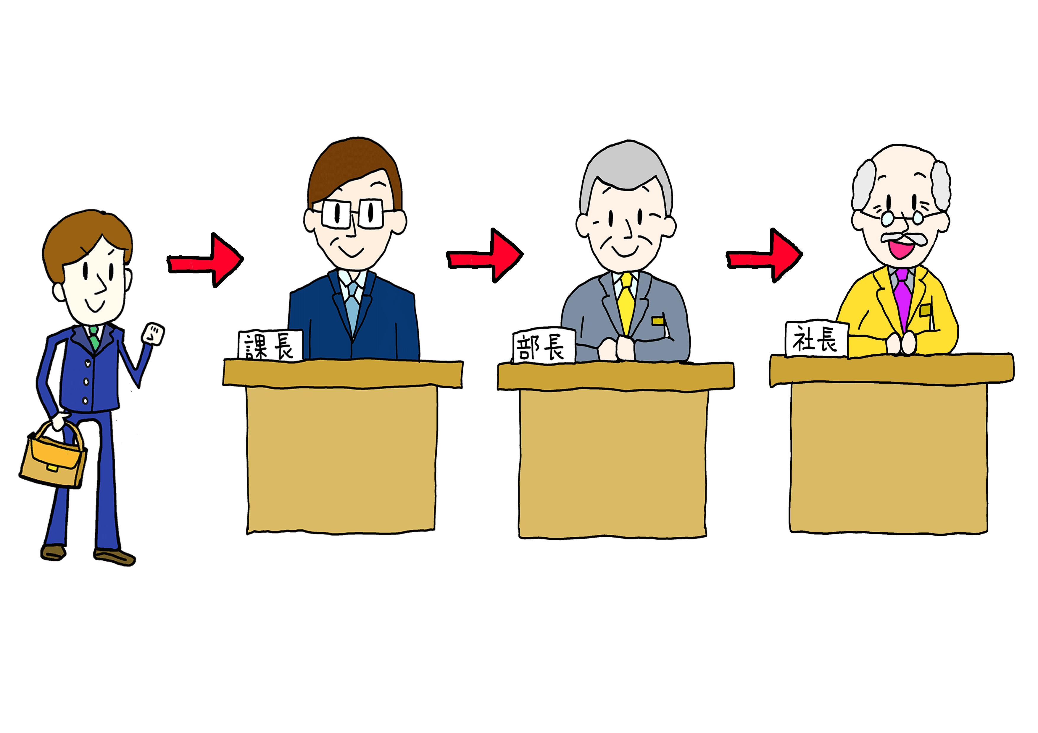イラスト【課長/部長/社長/昇進】