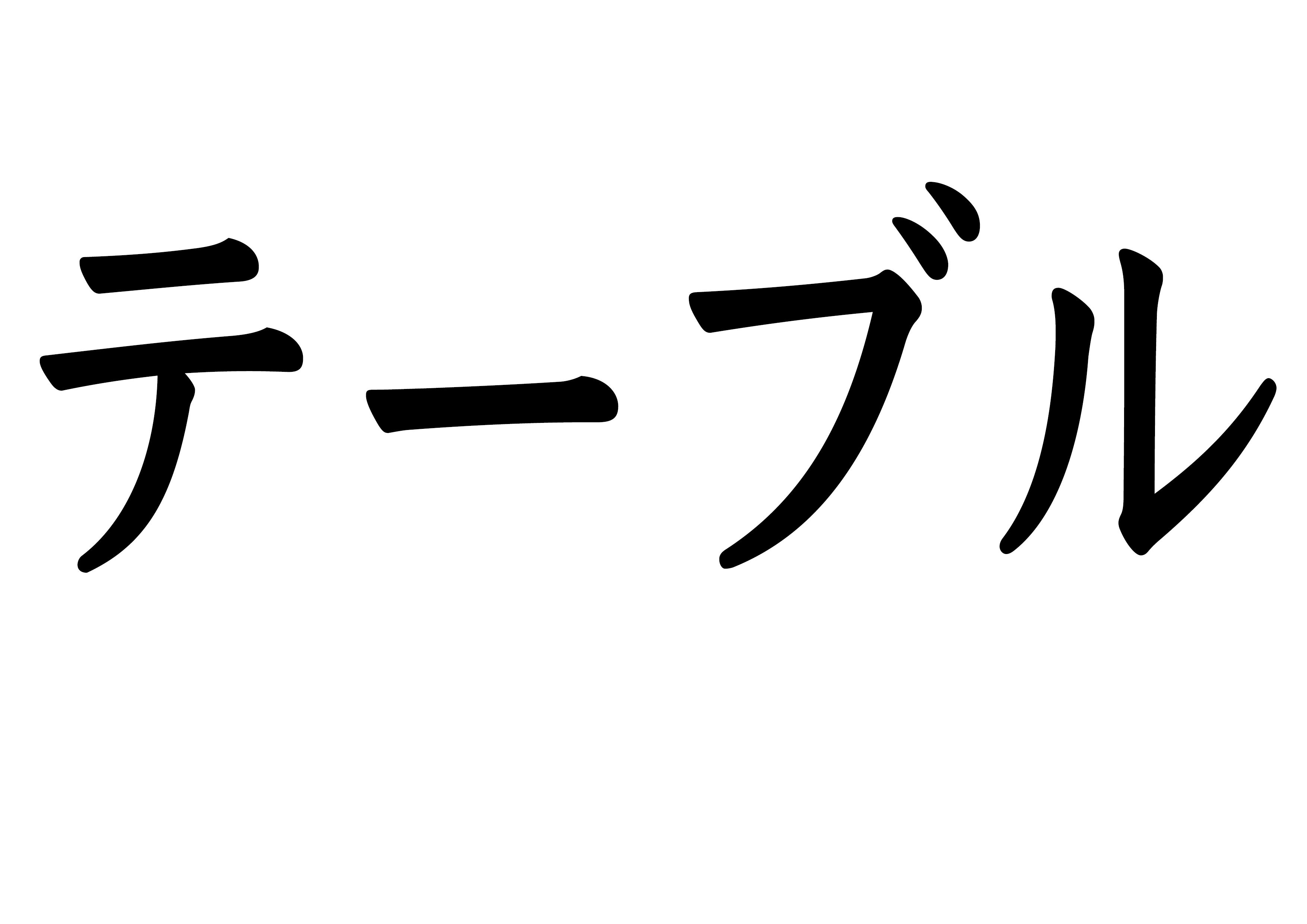 フラッシュカード【テーブル】