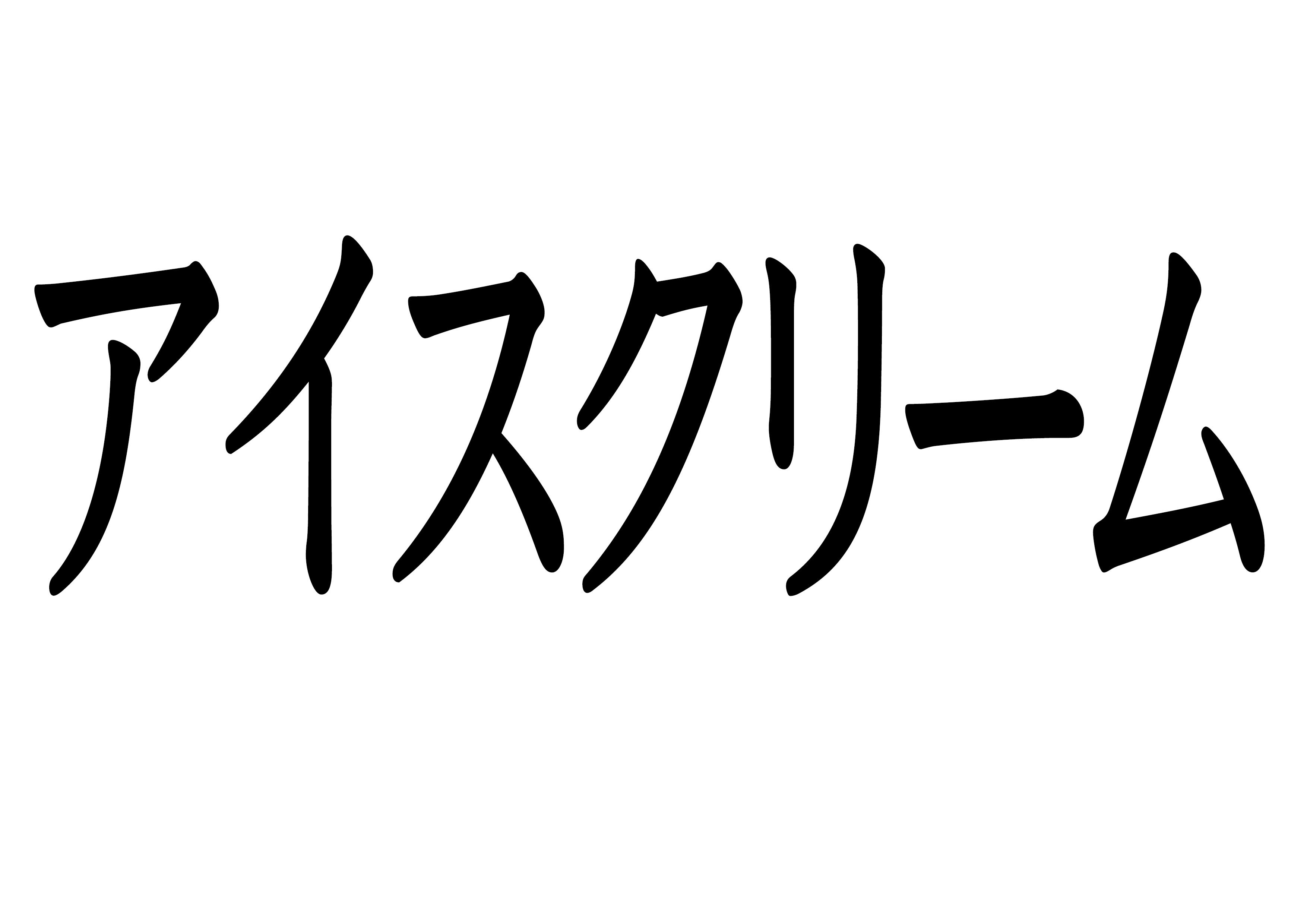 フラッシュカード【アイスクリーム】