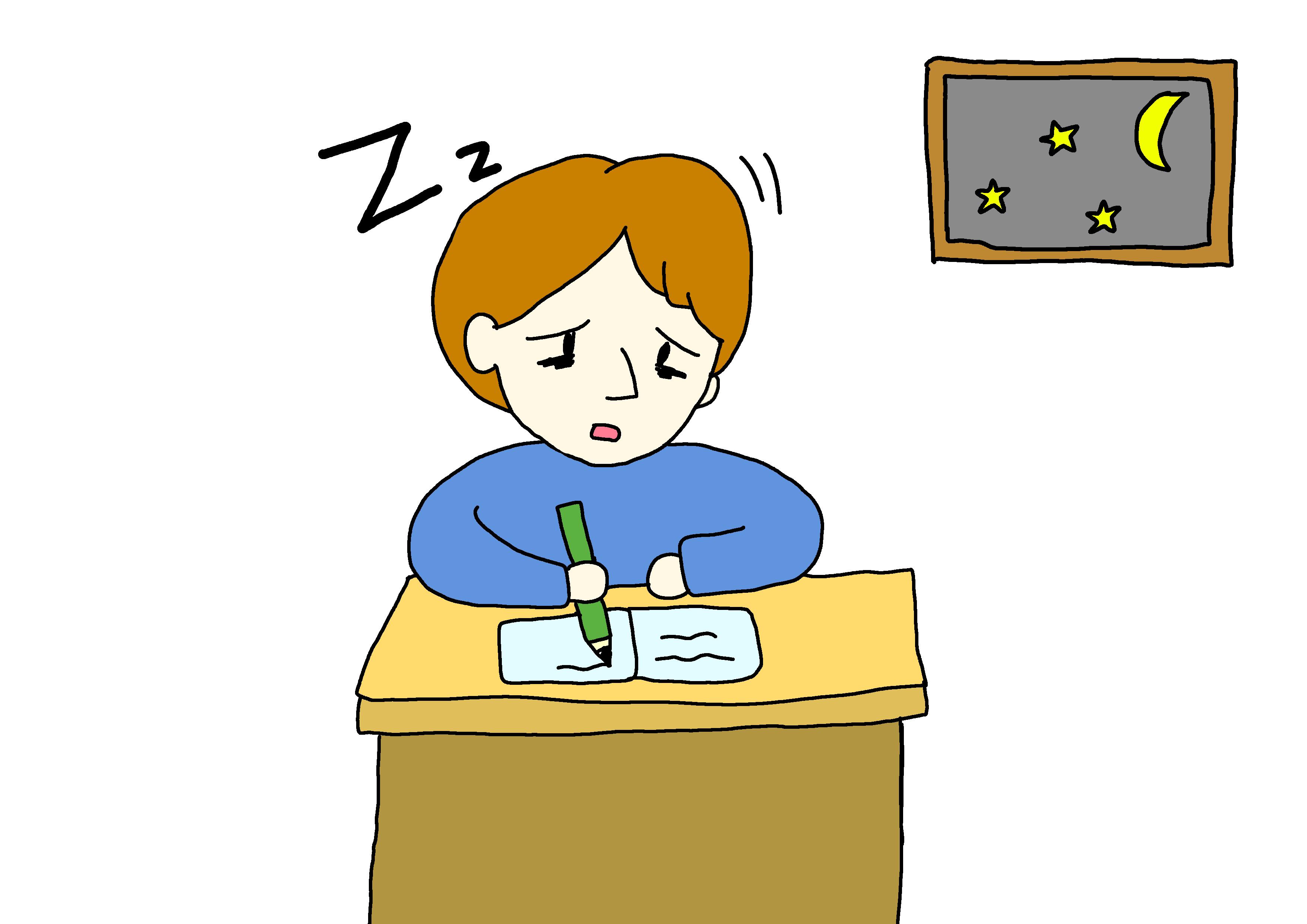 イラスト【眠い】