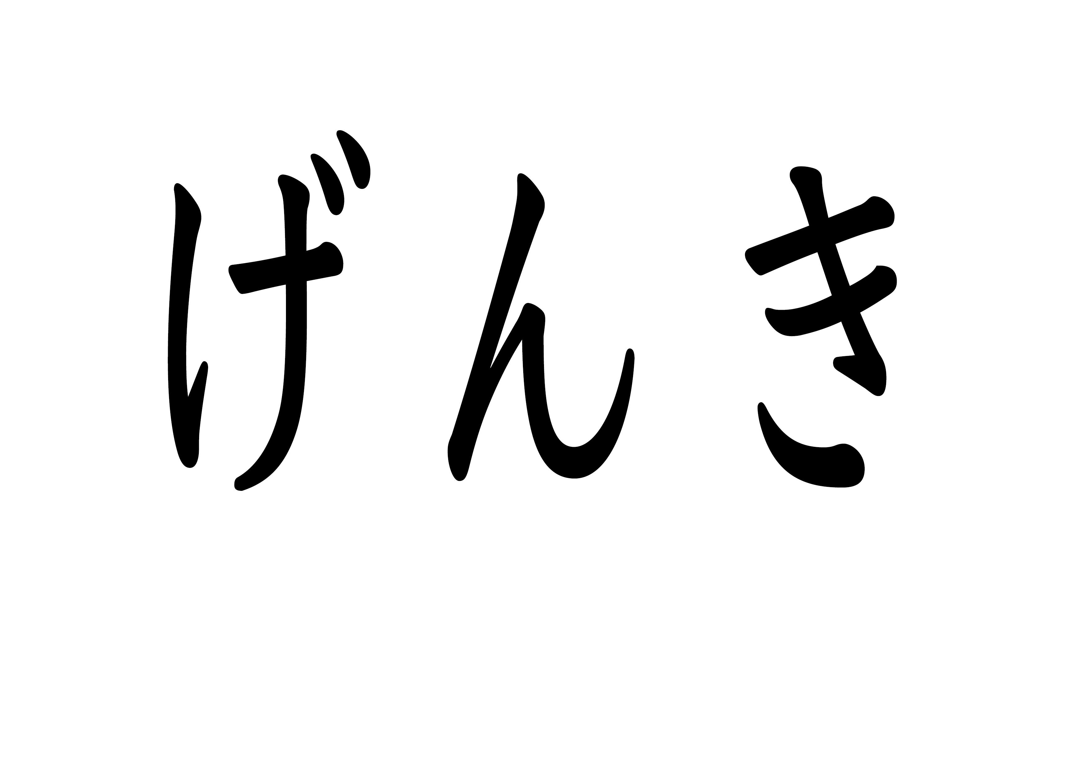 フラッシュカード【元気】