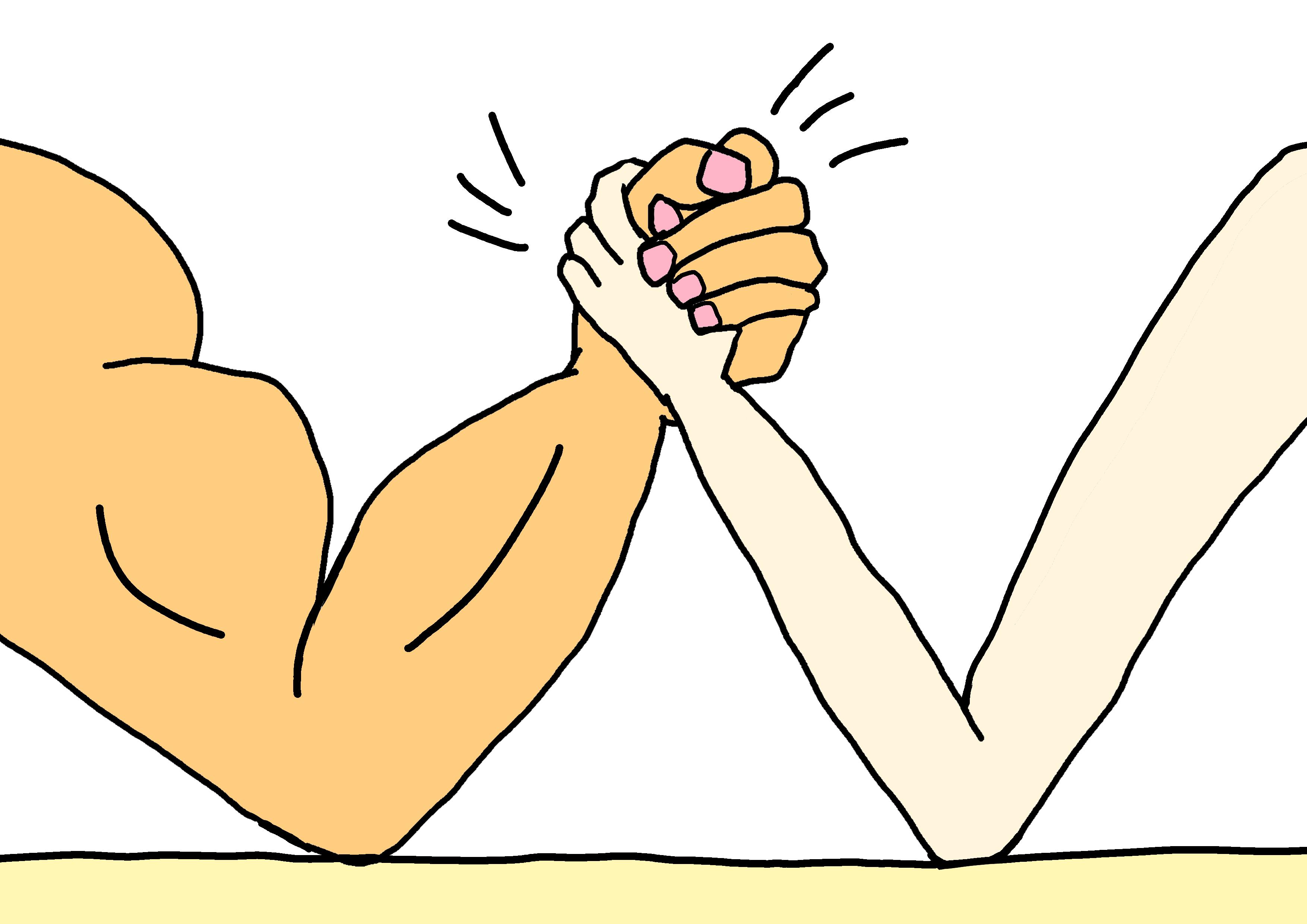 イラスト【強い・弱い】
