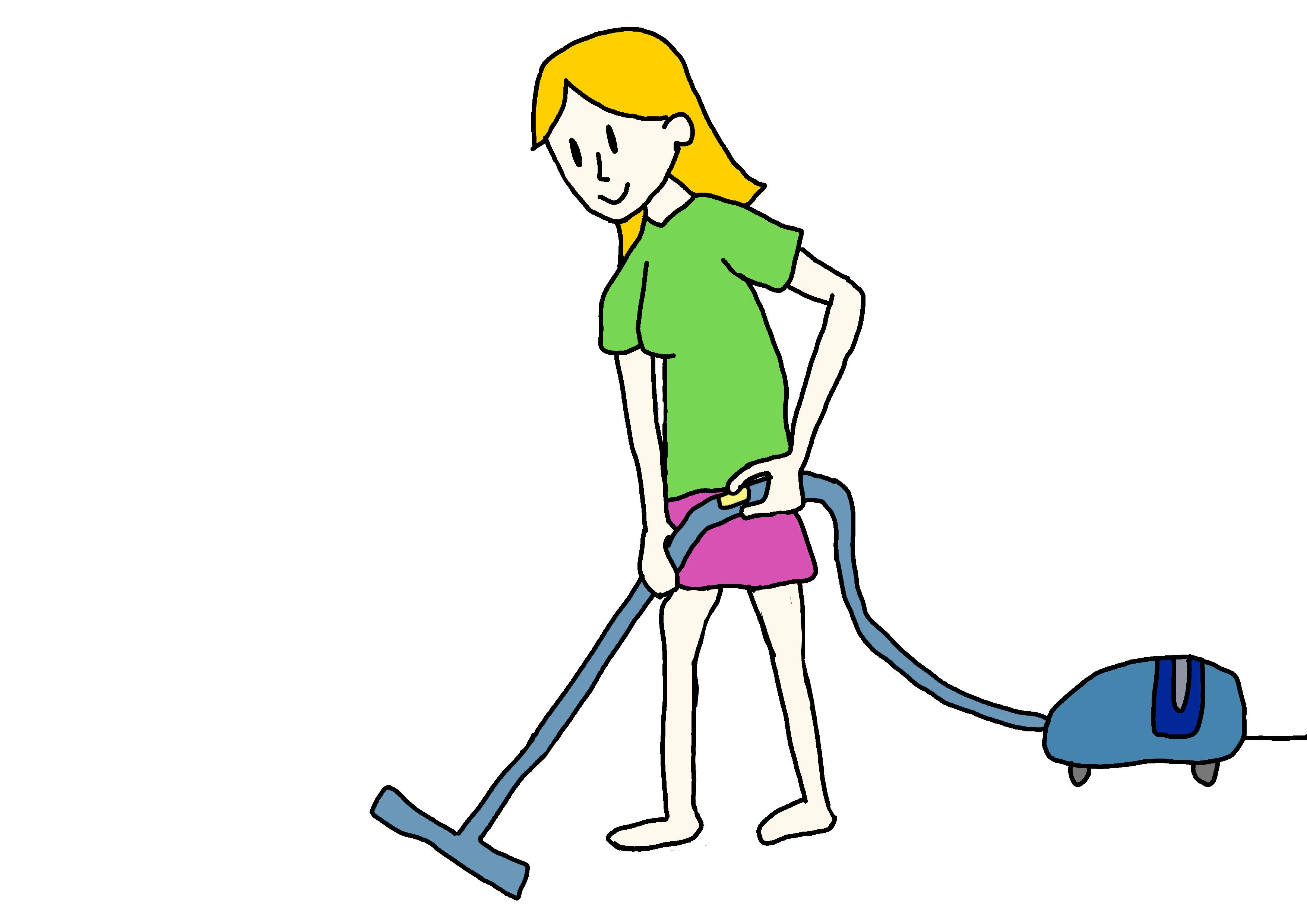 イラスト【掃除します】