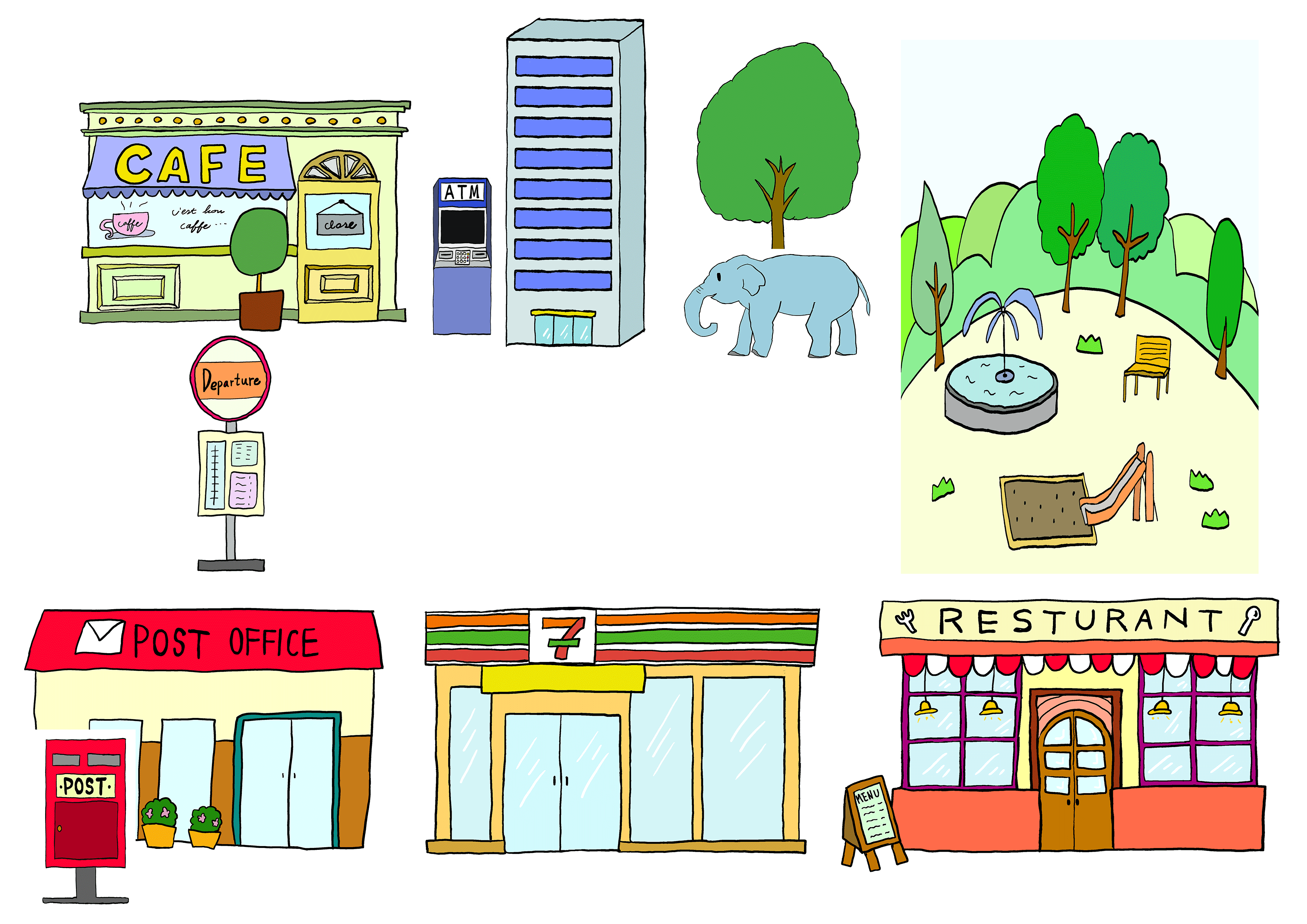 建物イラスト