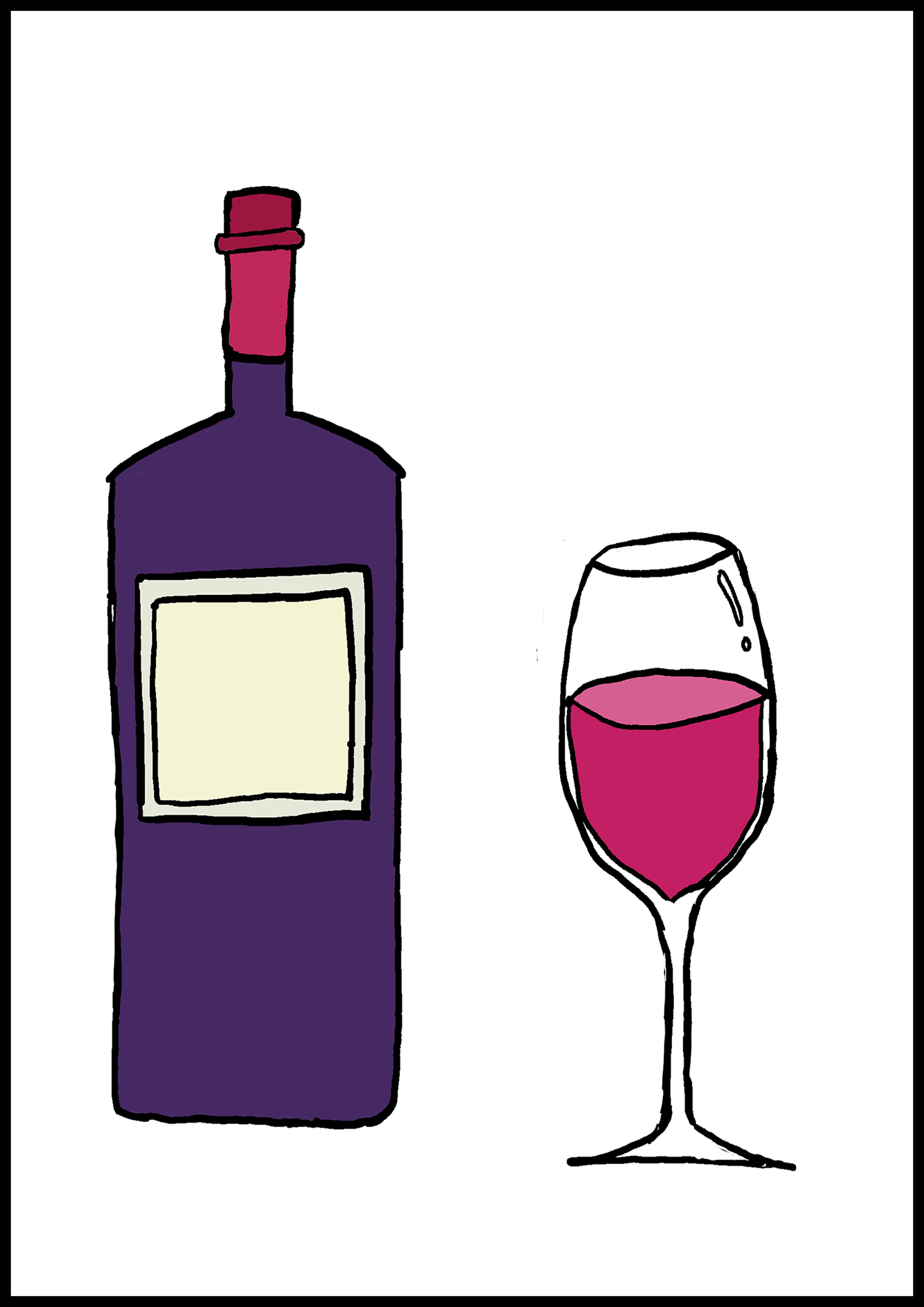カルタイラスト【ワイン】