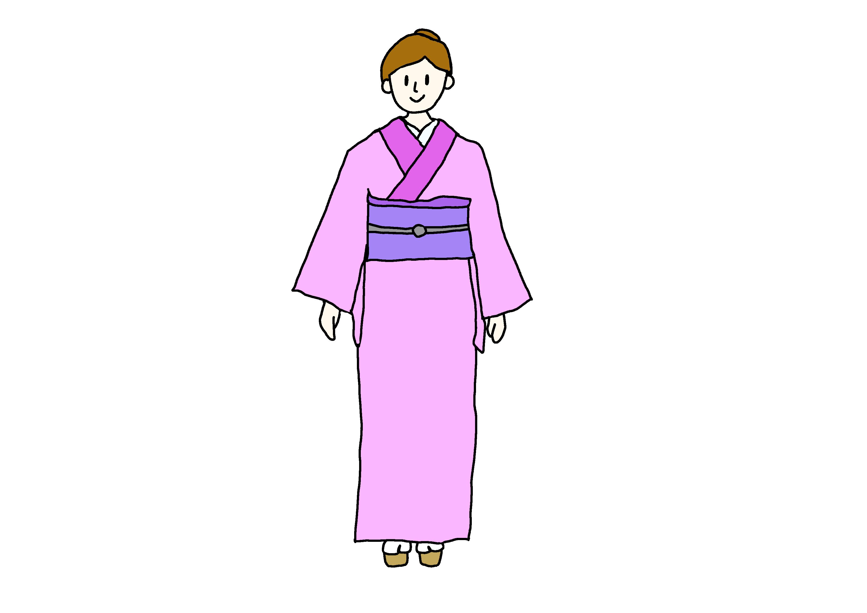イラスト【着物】