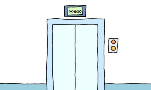 【みんなの日本語3課イラスト】エレベーター