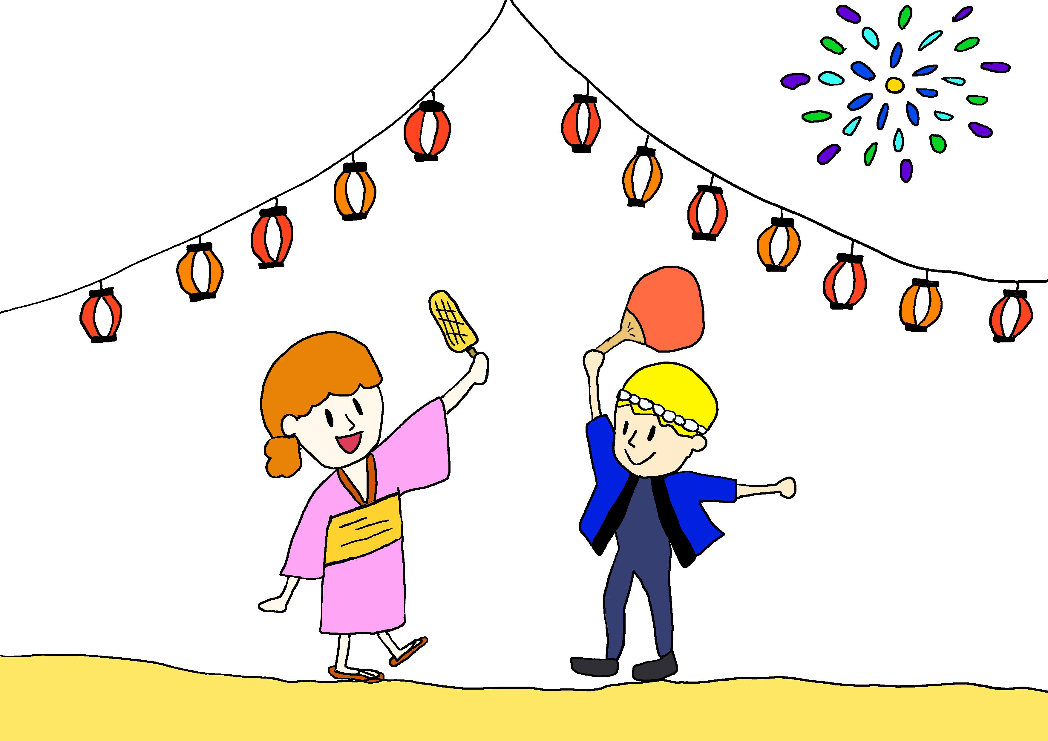 イラスト【お祭りがあります】