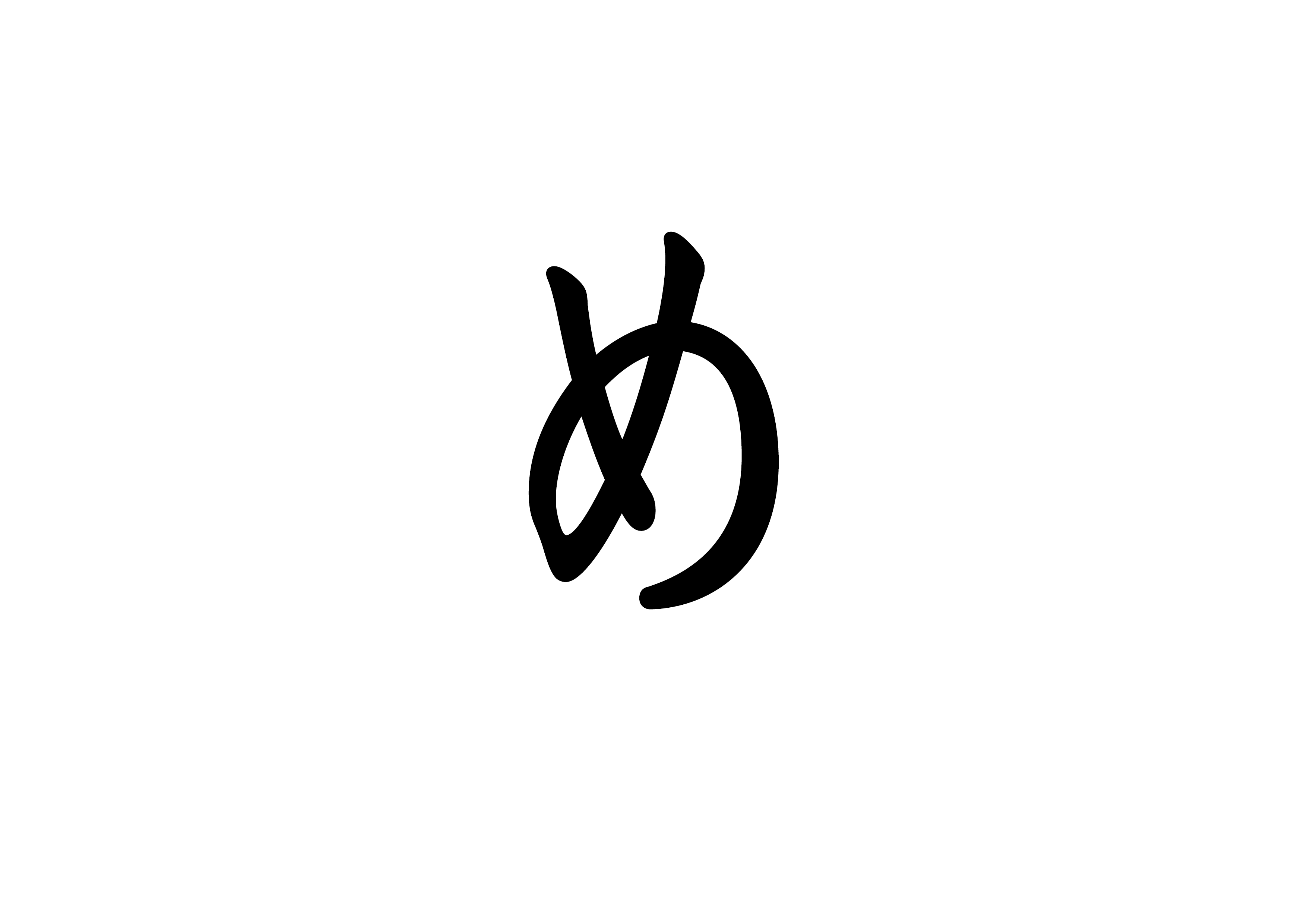 文字カード【目】