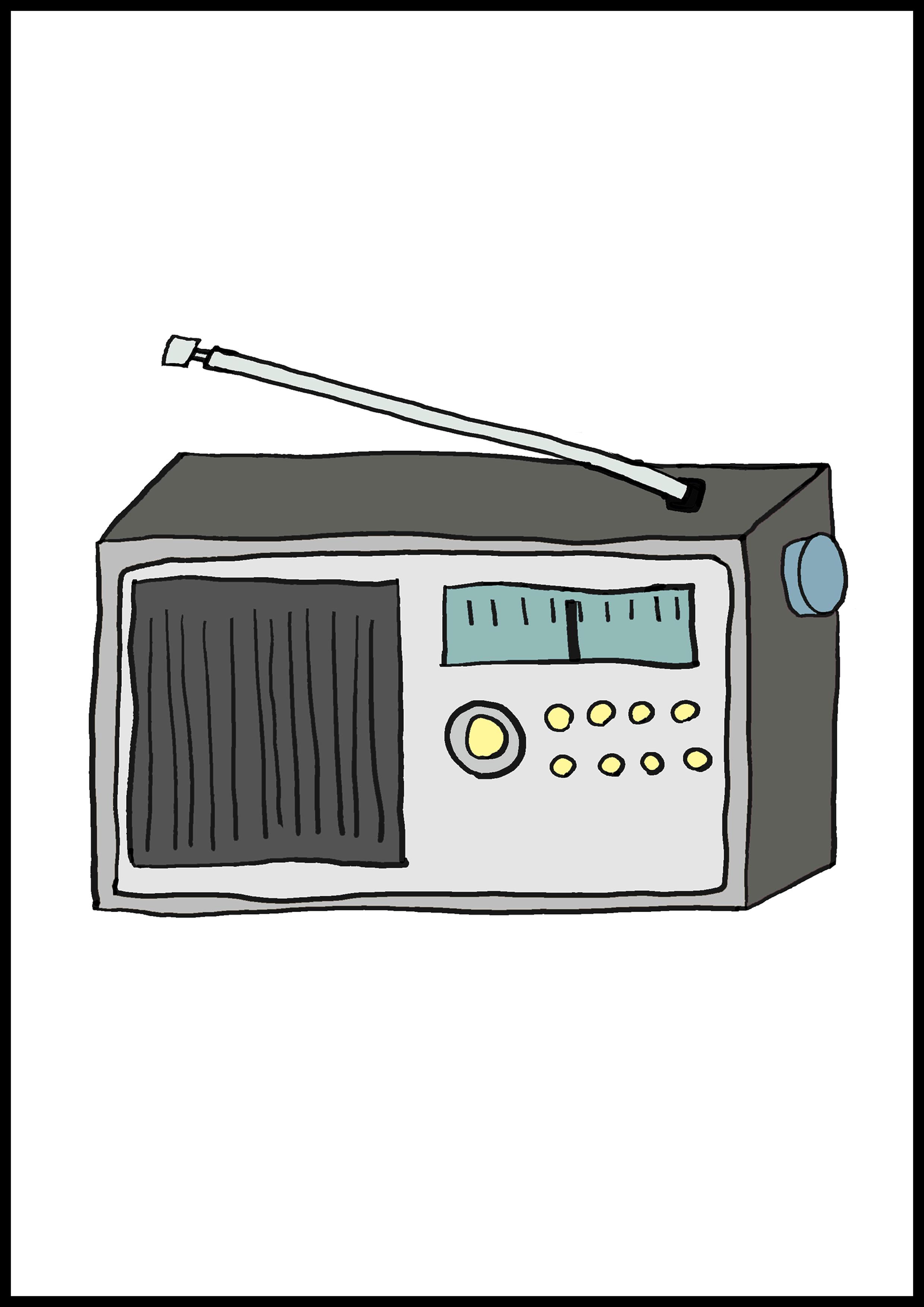 カルタイラスト【ラジオ】