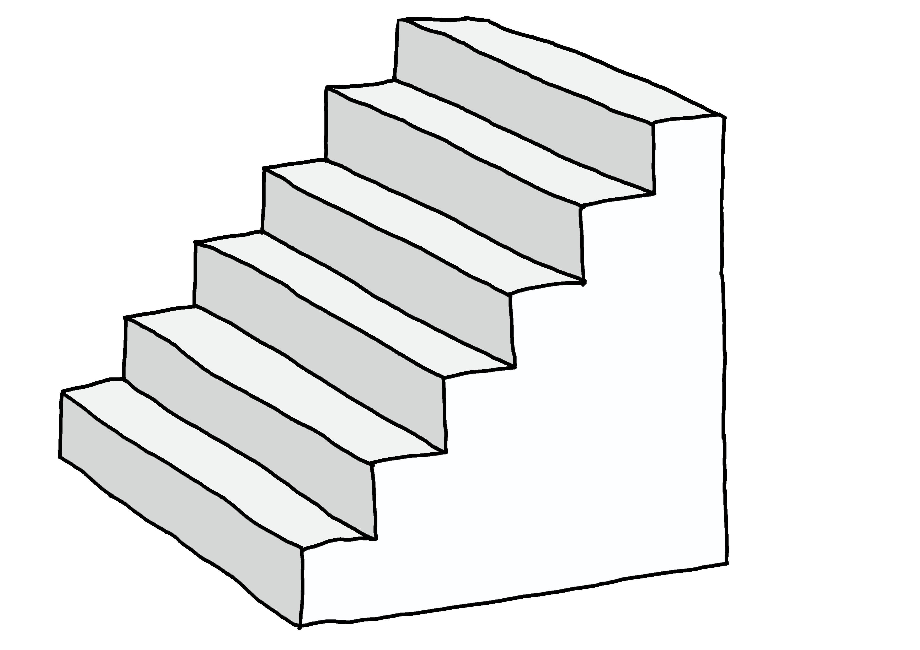 【みんなの日本語3課イラスト】階段
