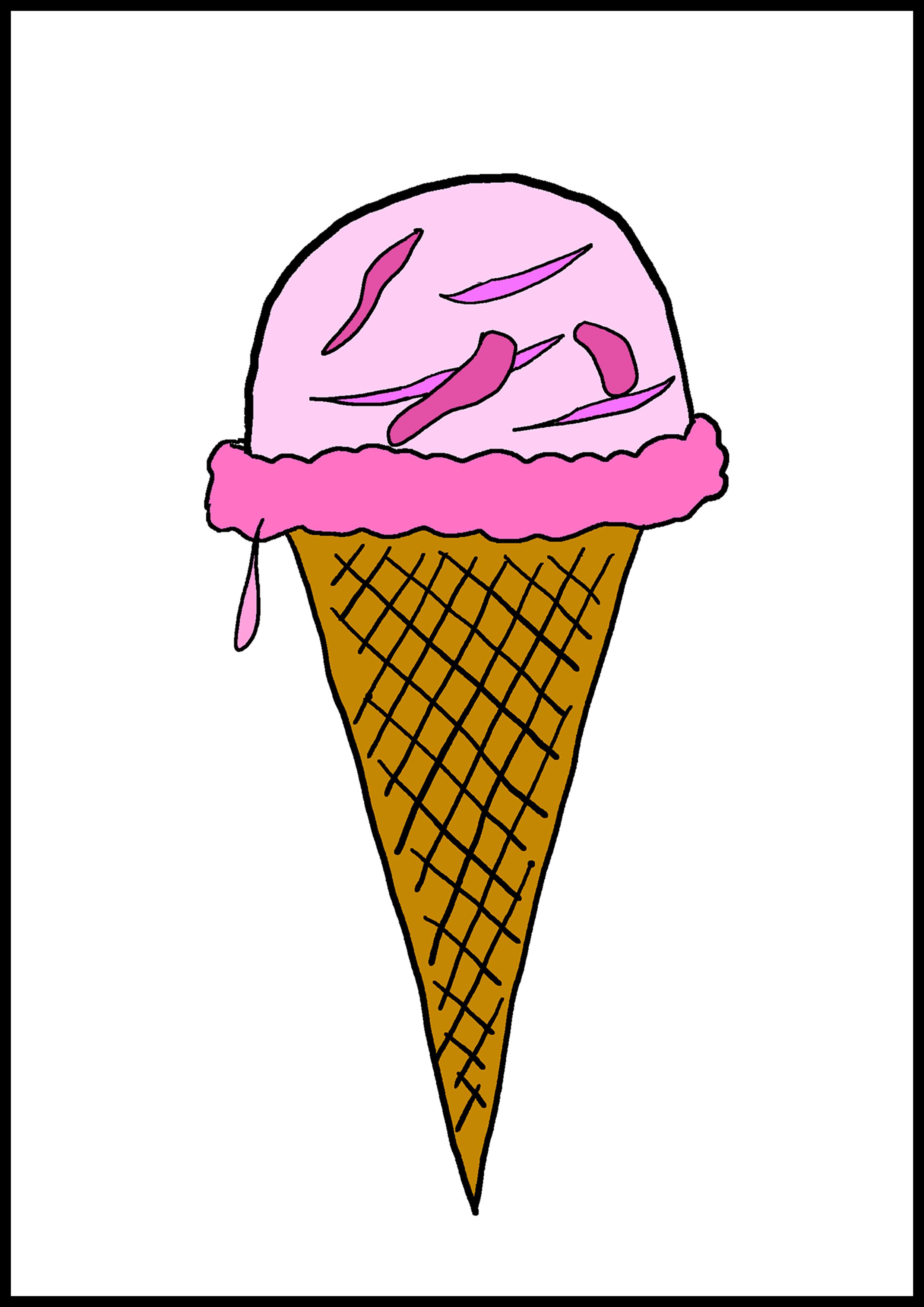 カルタイラスト【アイスクリーム】
