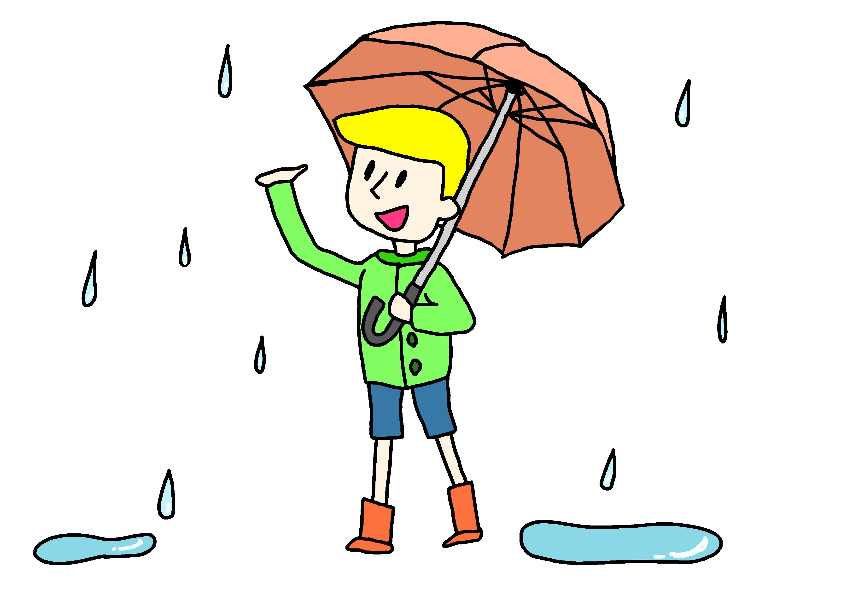 イラスト【雨が降ります】