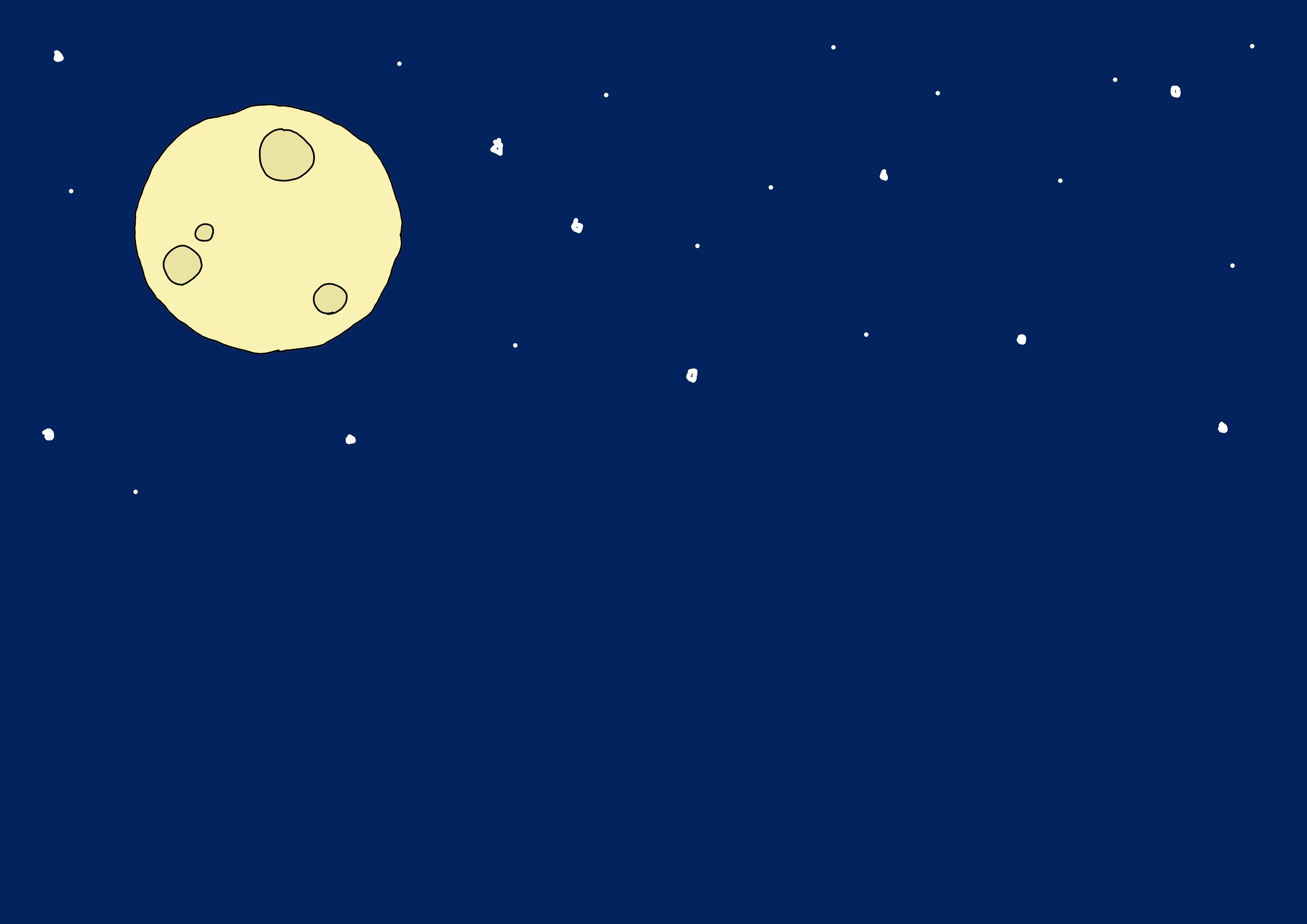 イラスト【夜・月】
