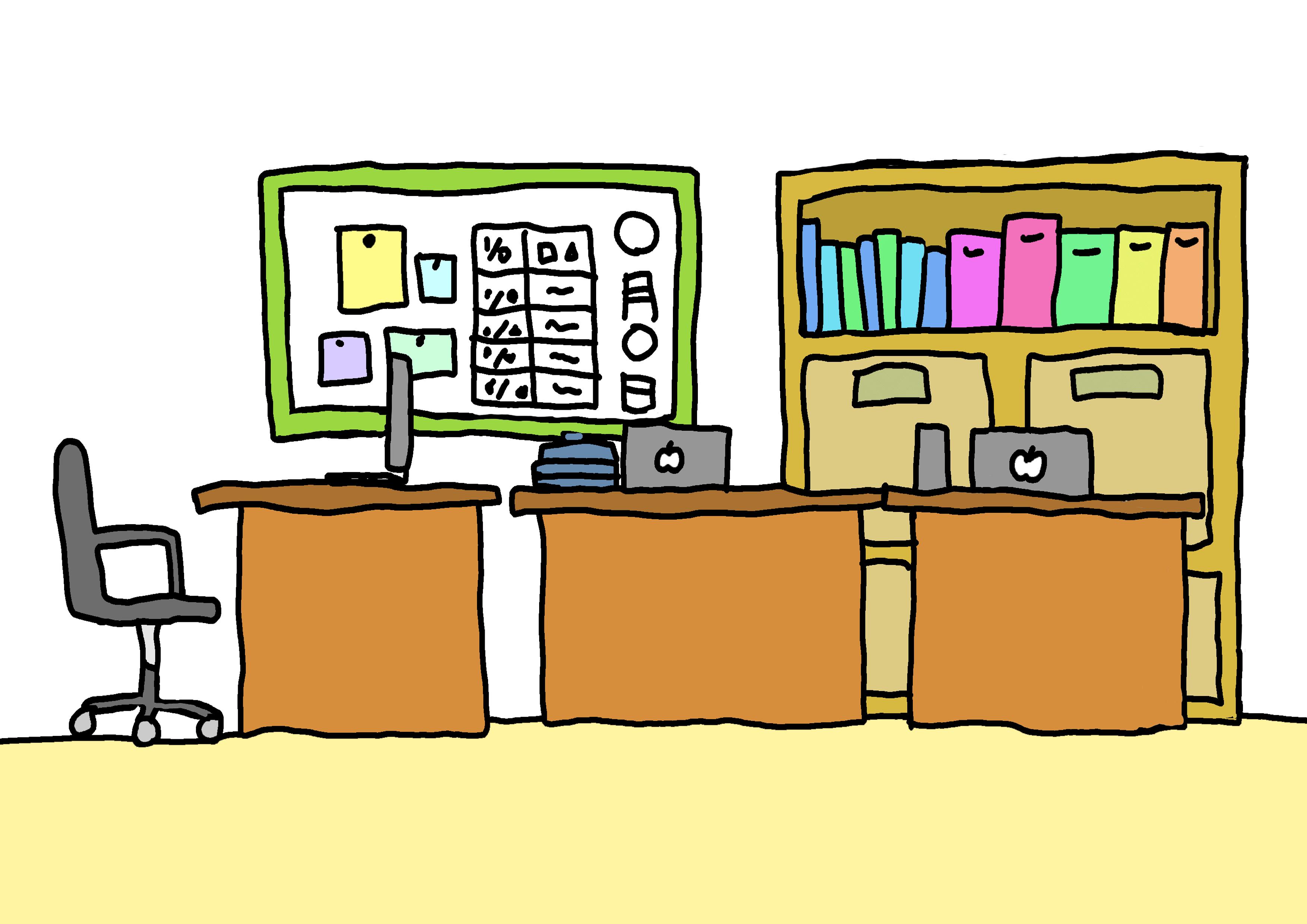 【みんなの日本語3課イラスト】事務所