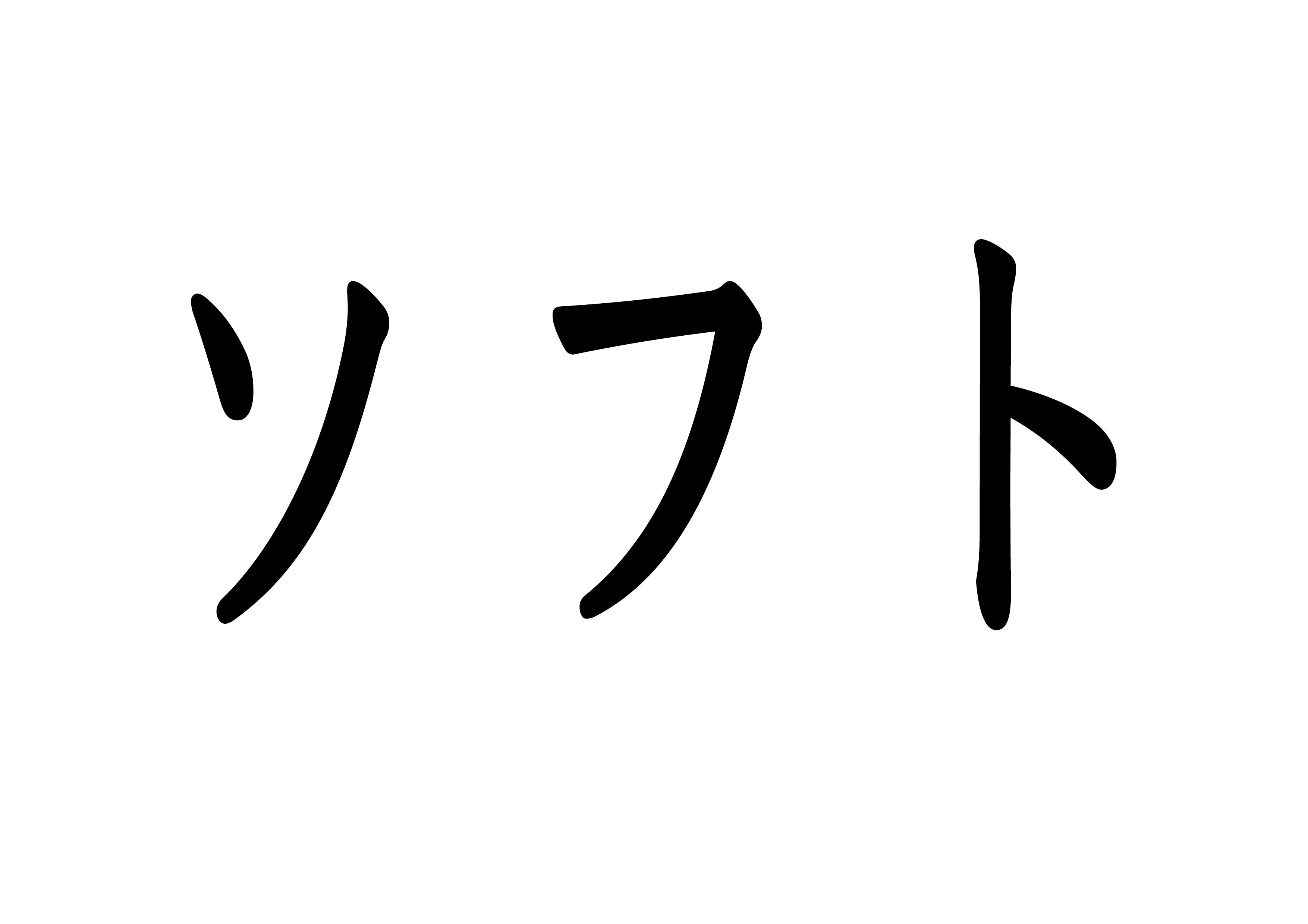 文字カード【ソフト】