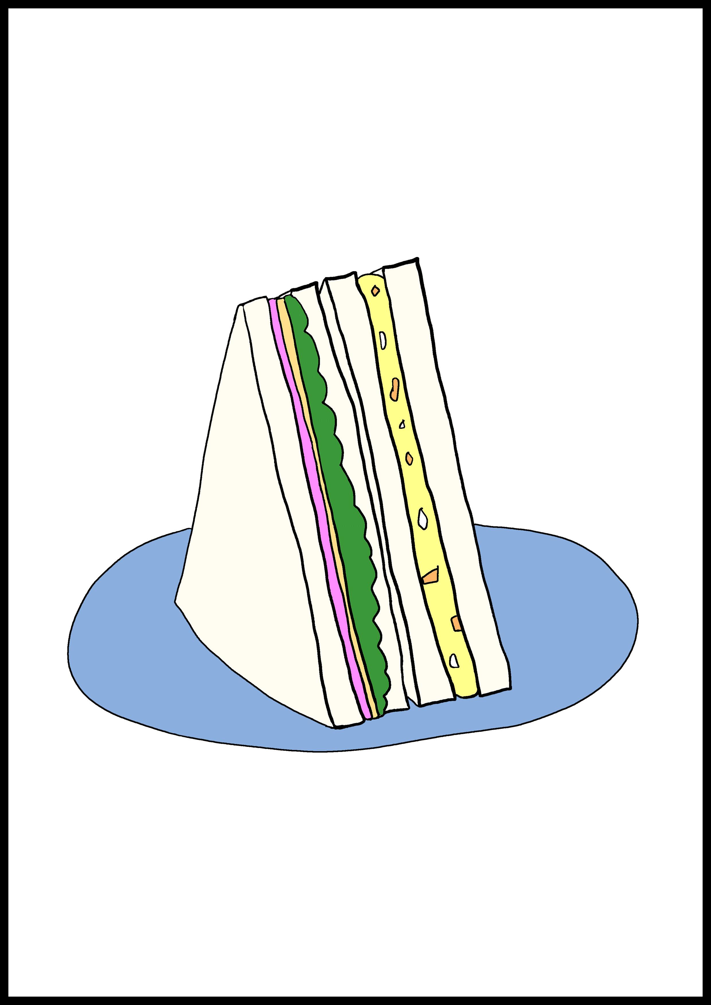 カルタイラスト【サンドイッチ】