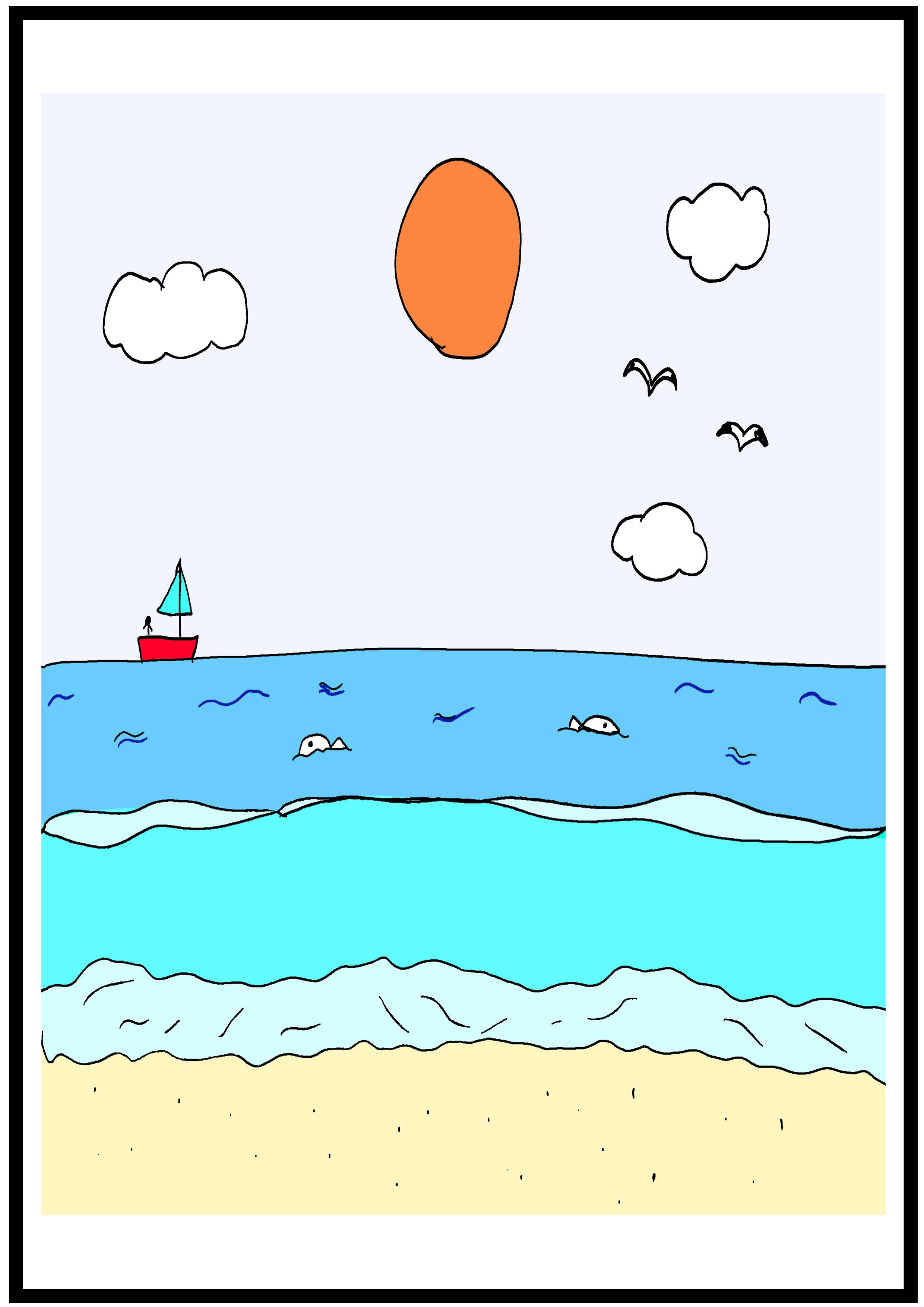 イラスト【海】