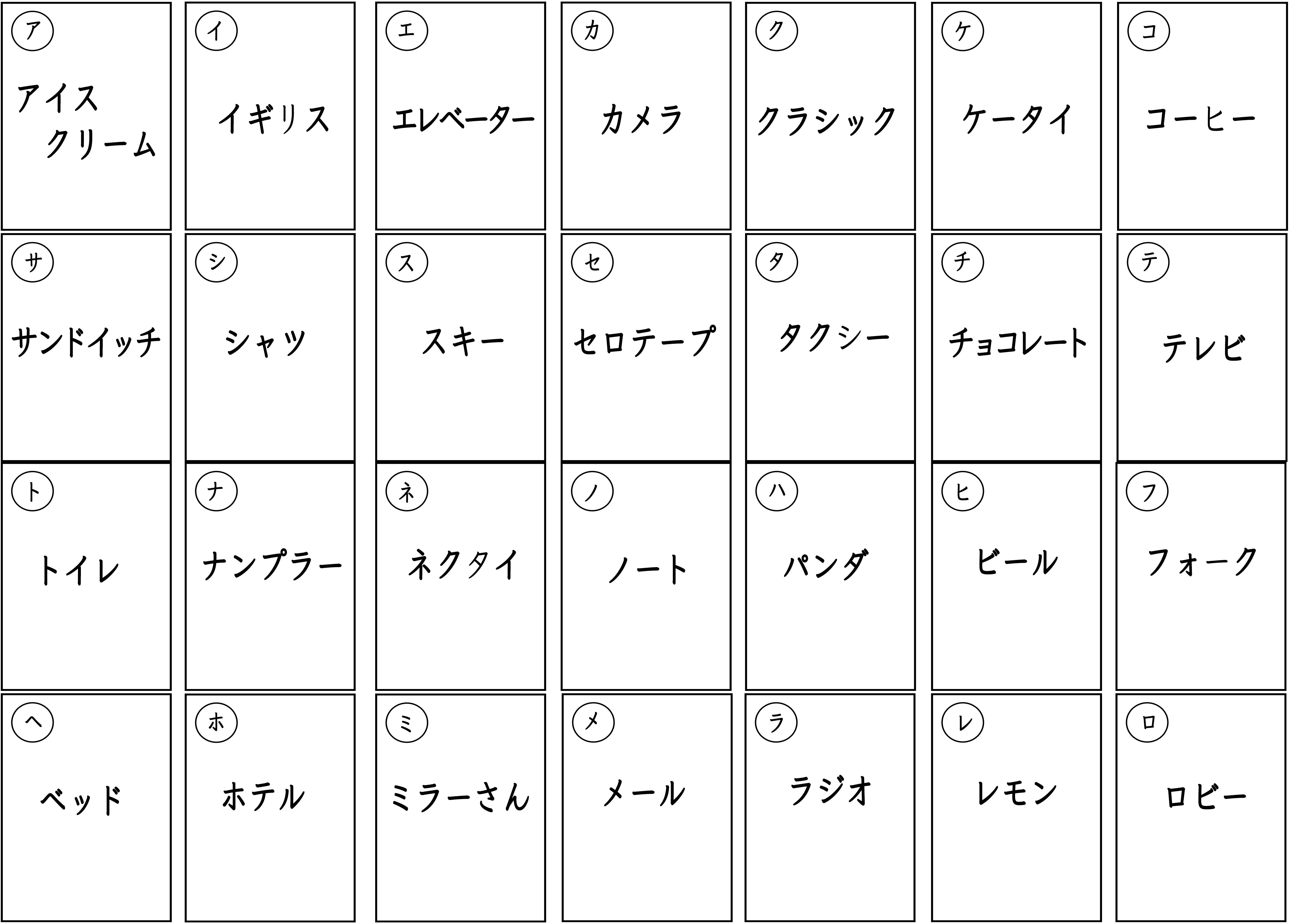 カルタ・文字・カタカナ・日本語教師