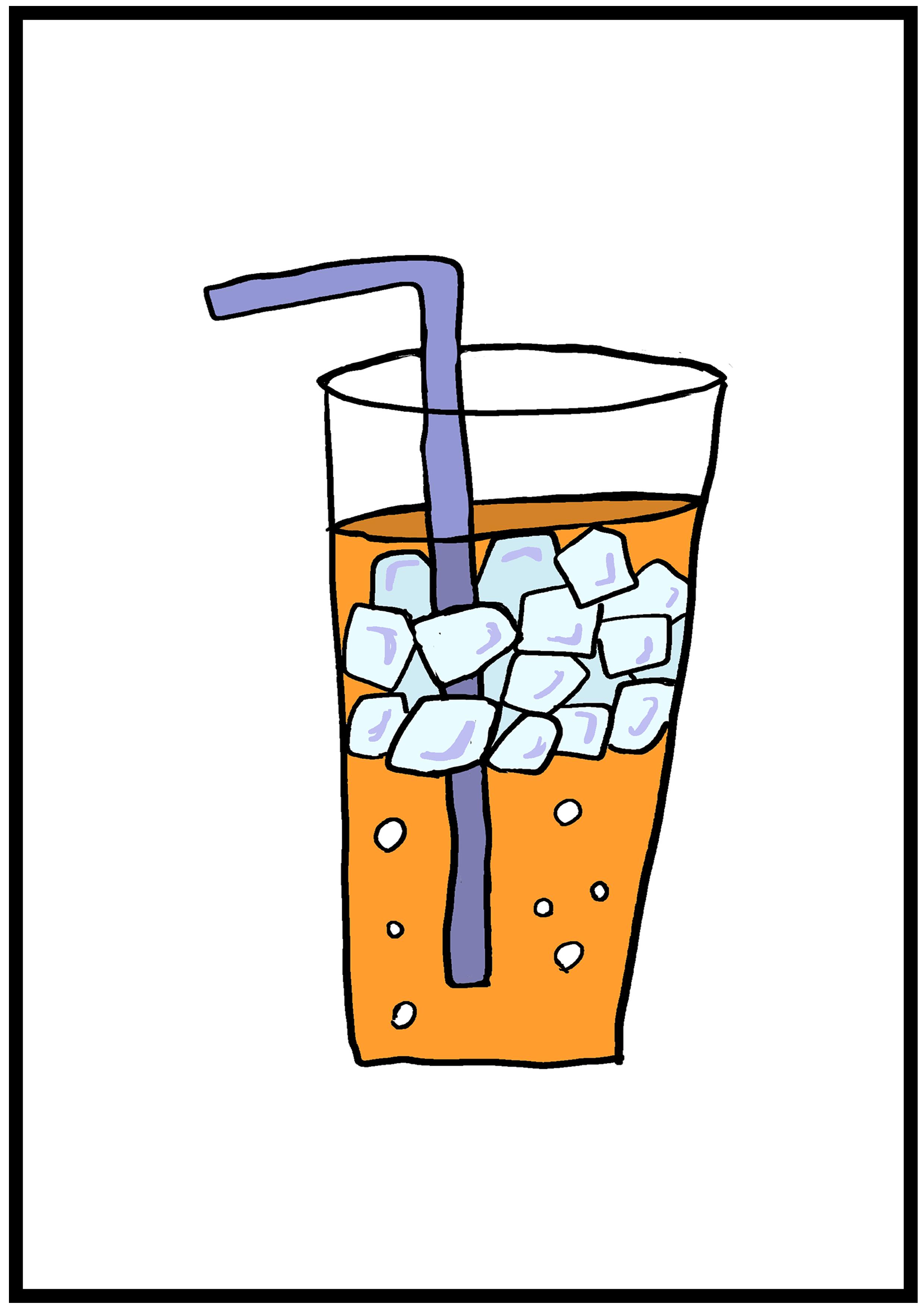イラスト【冷たいジュース】