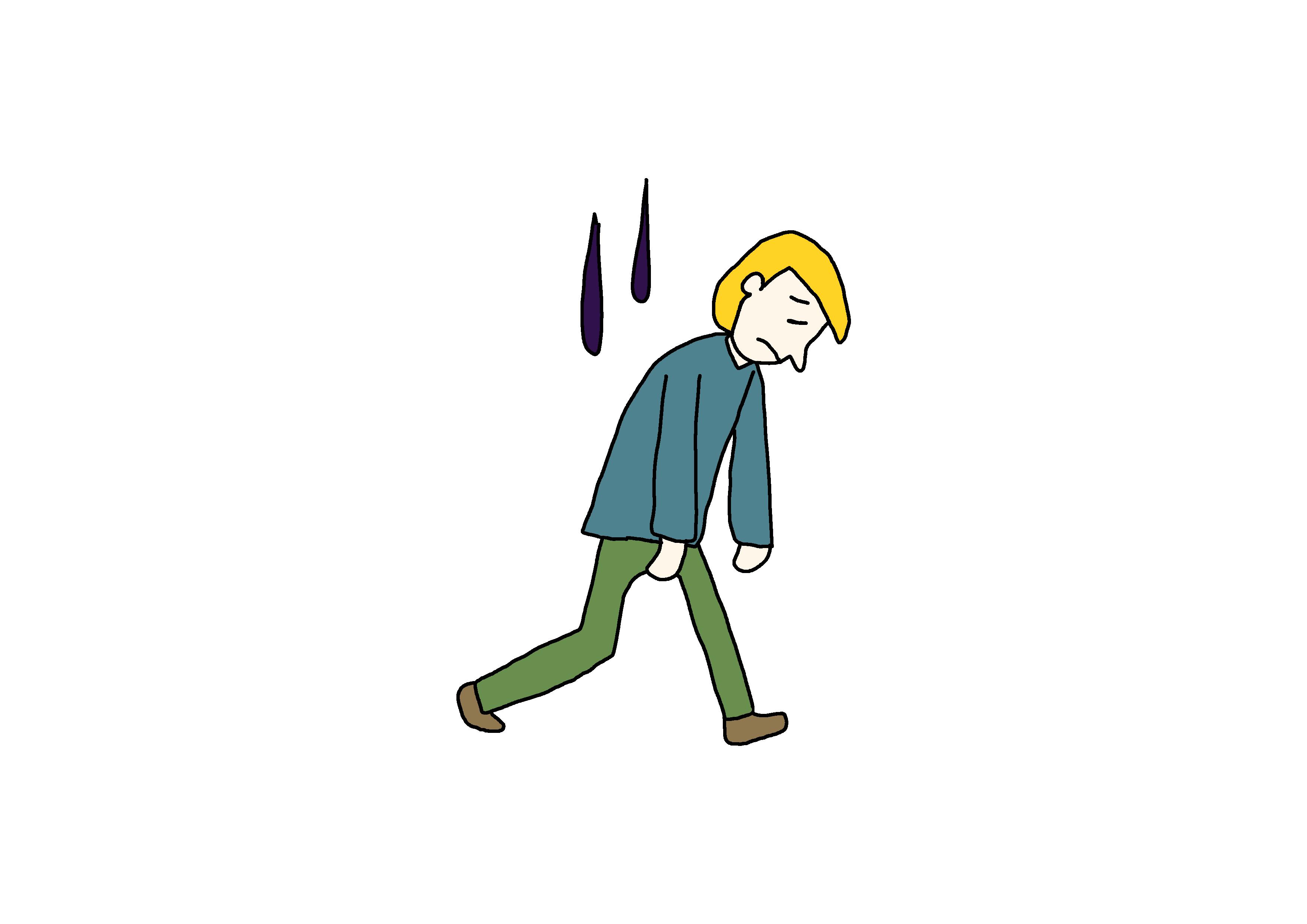 26課イラスト【気分が悪い】