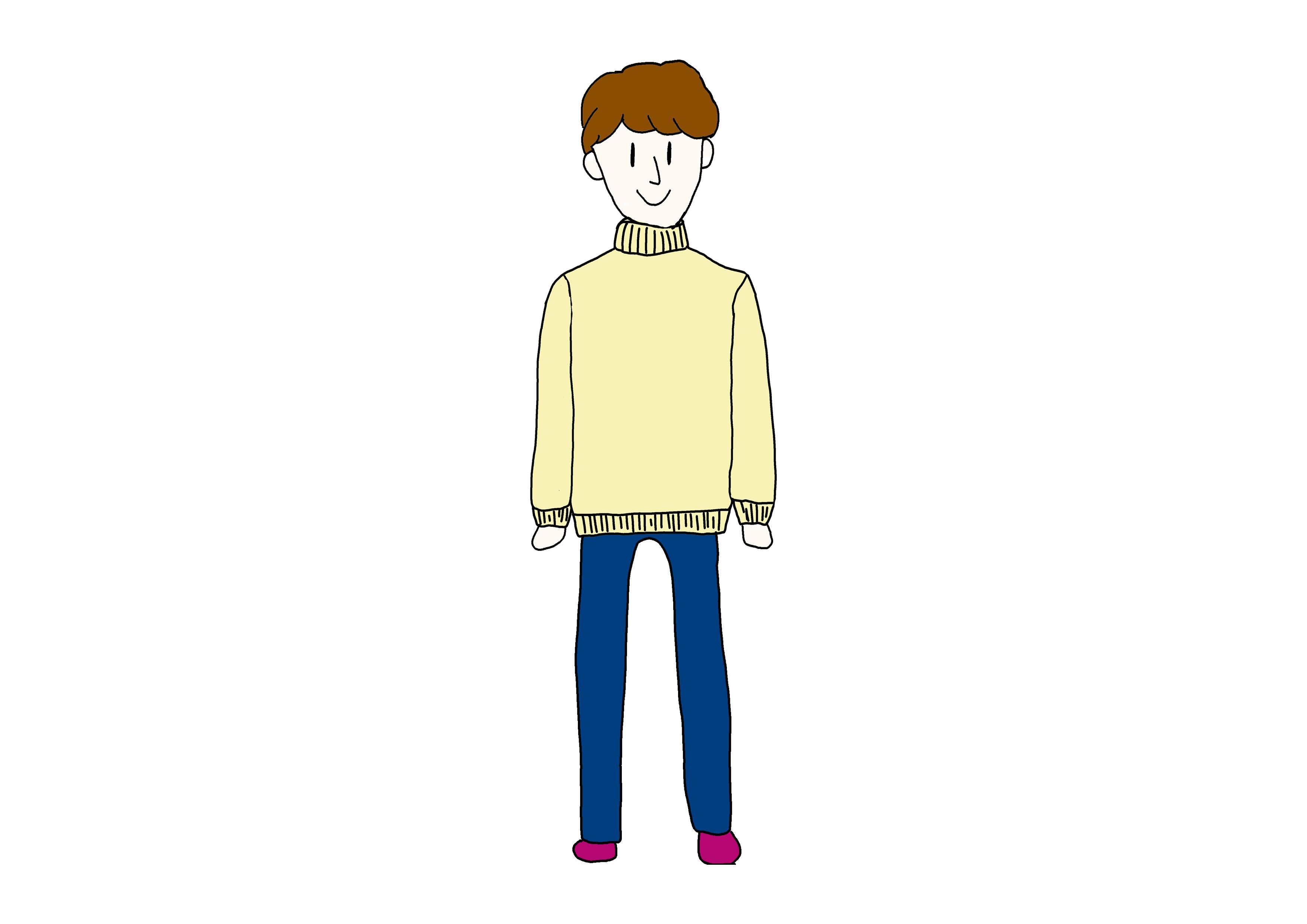 イラスト【セーターを着ている人】