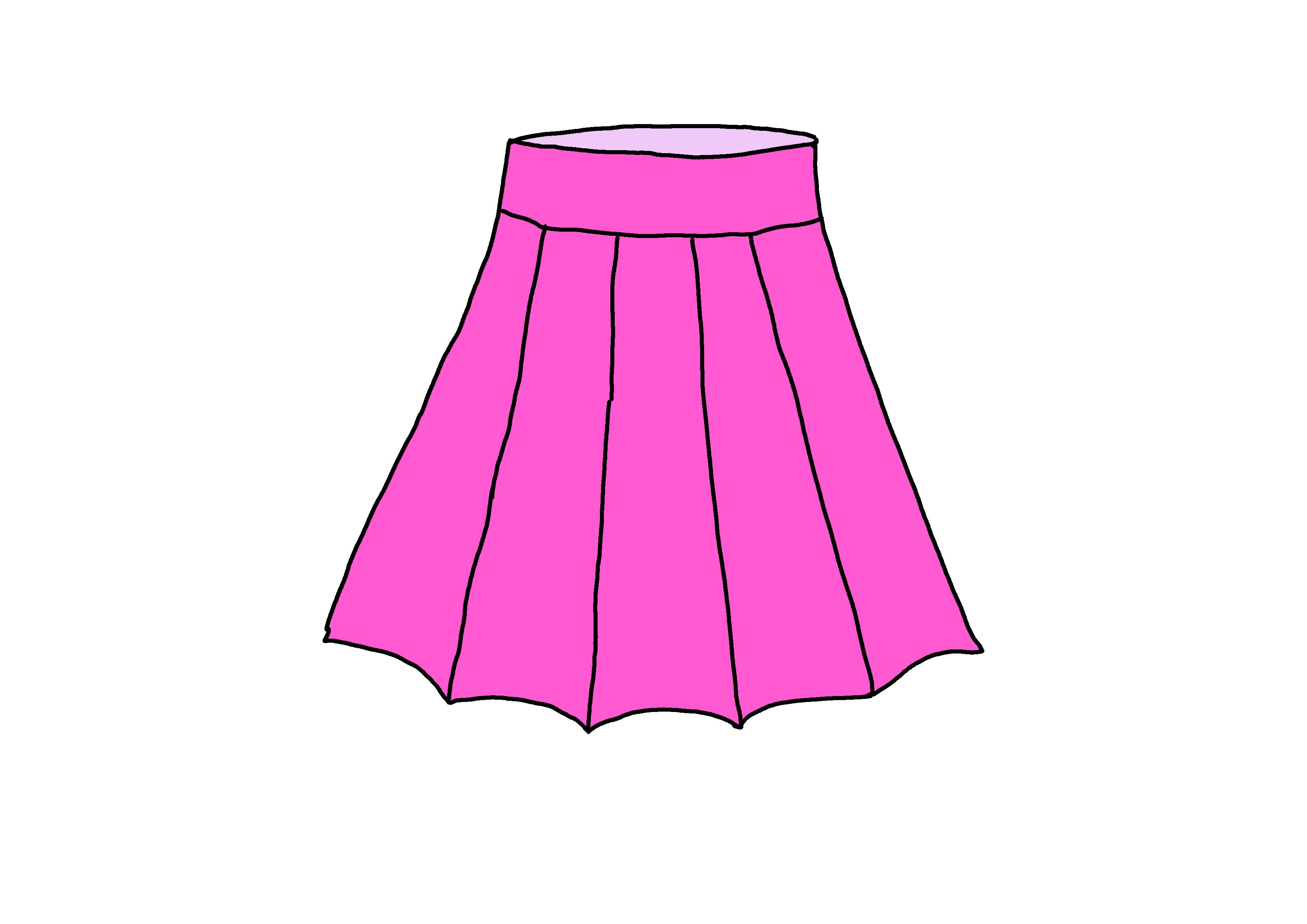イラスト【スカート】